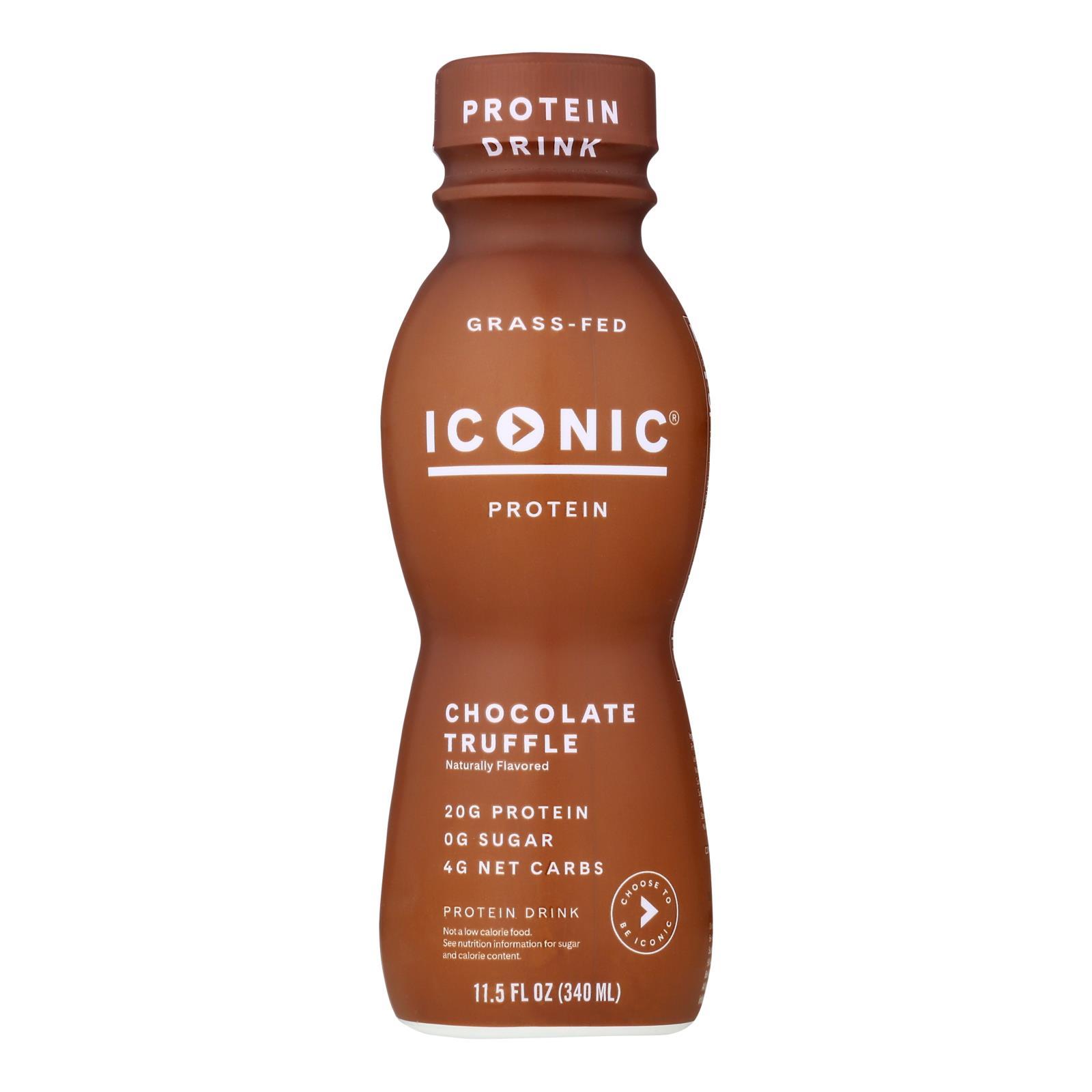 Iconic Protein Shake - Chocolate Truffle - Case of 12 - 11.5 Fl oz.