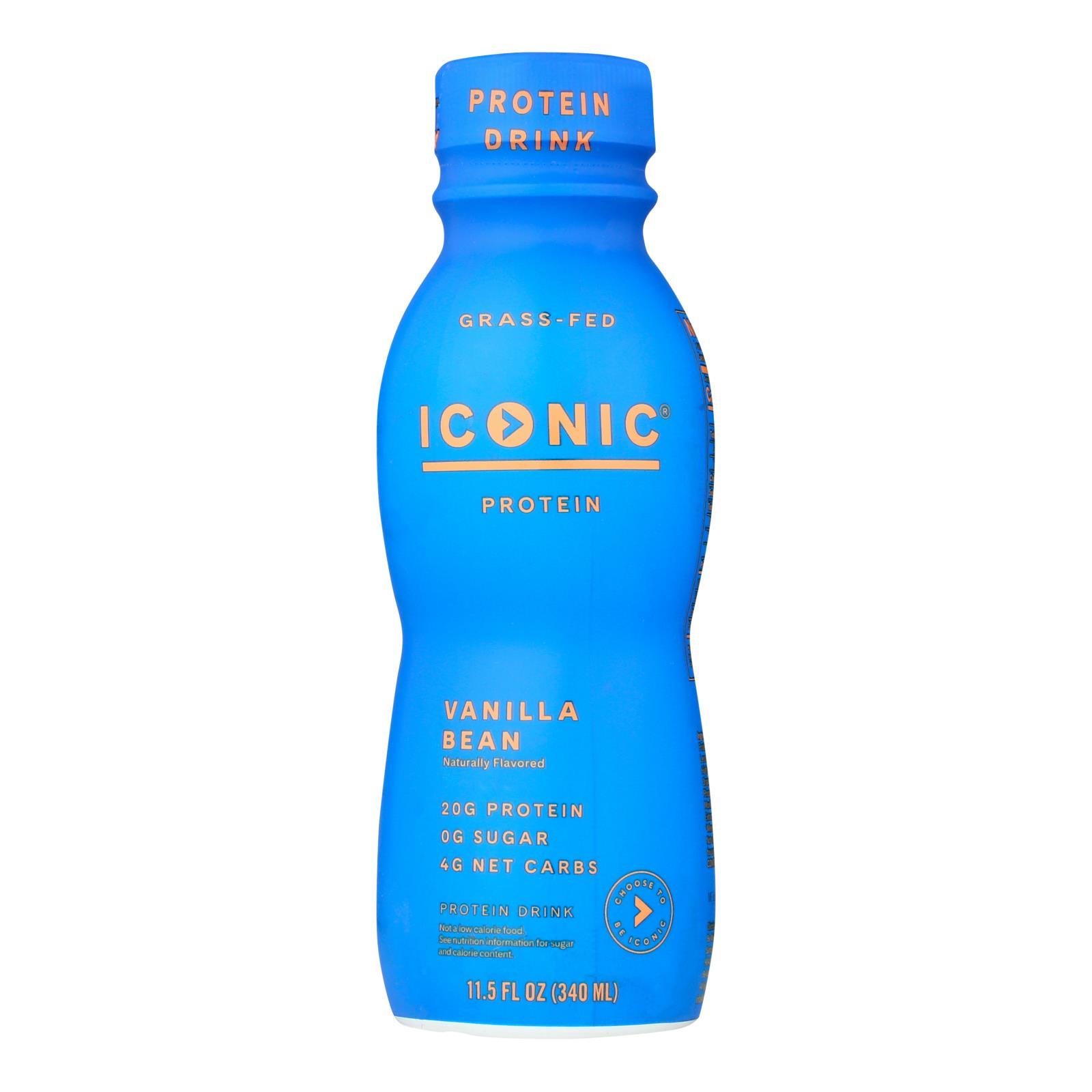 Iconic Protein Shake - Vanilla Bean - Case of 12 - 11.5 Fl oz.