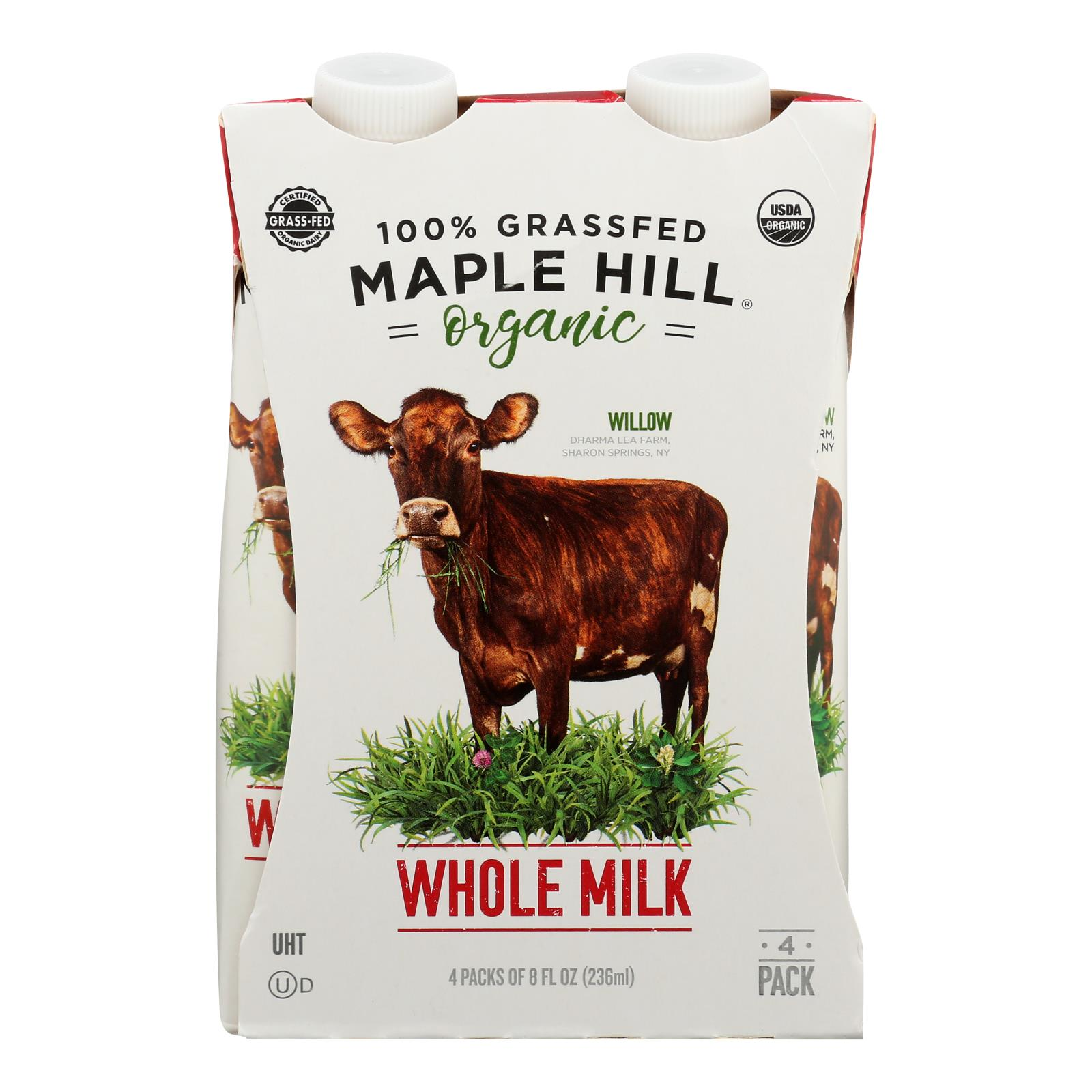 Maple Hill Creamery - Milk Shlf Stbl Whole Wht - Case of 4-4/8 FZ