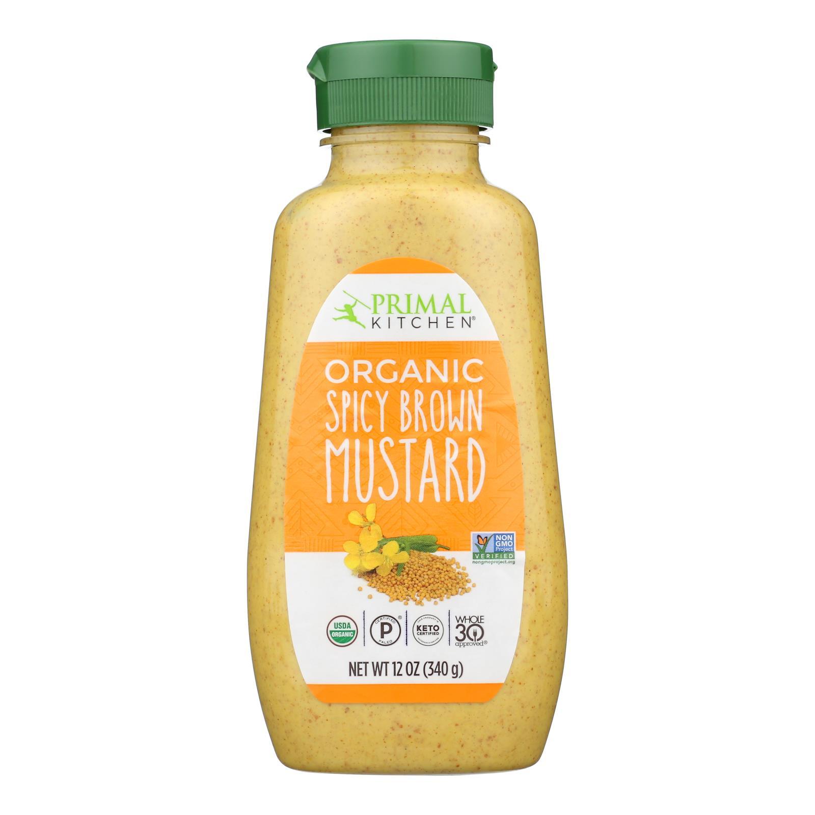 Primal Kitchen - Mustard Spicy Brown - Case of 6-12 OZ
