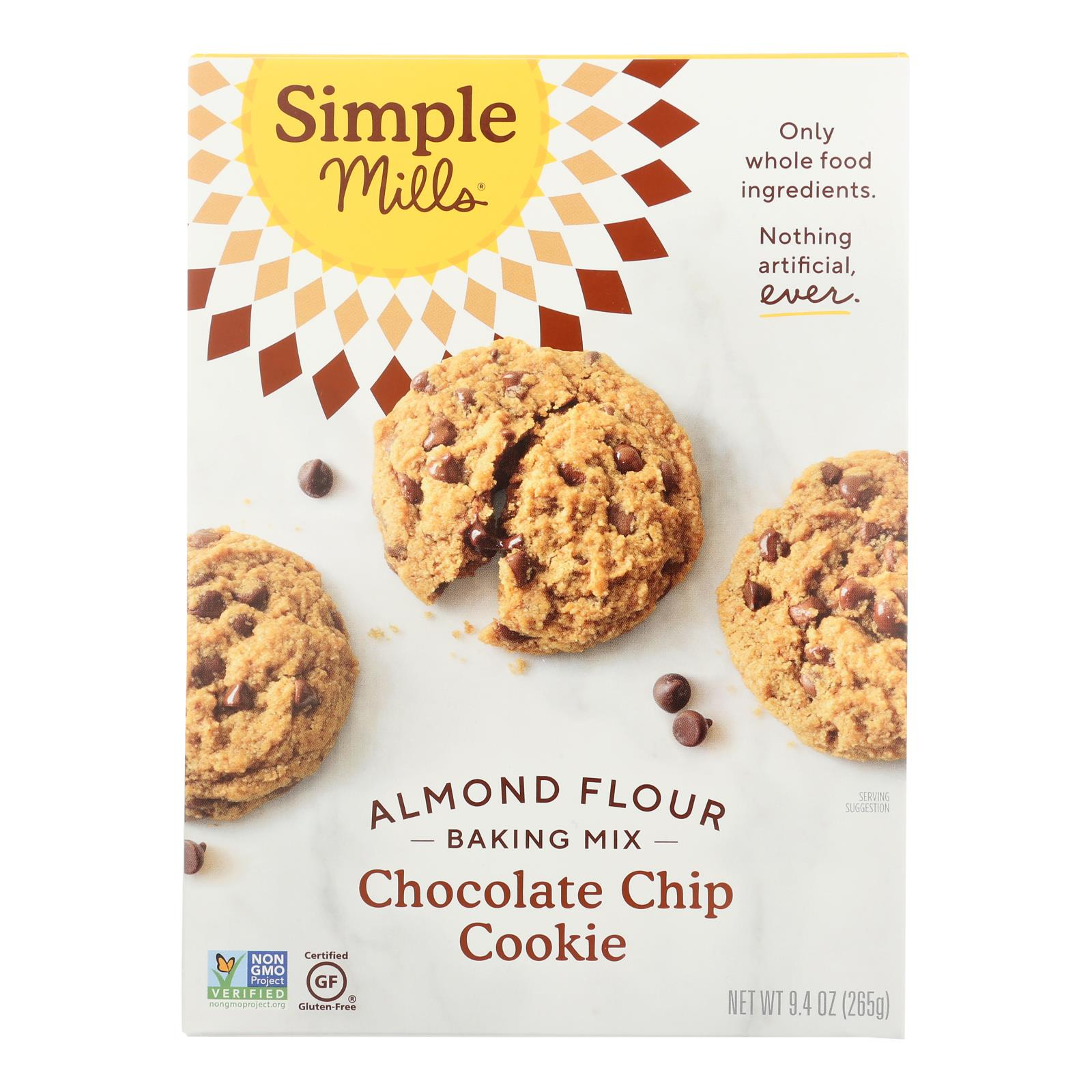 Simple Mills Almond Flour Chocolate Chip Cookie Mix - Case of 6 - 8.4 oz.