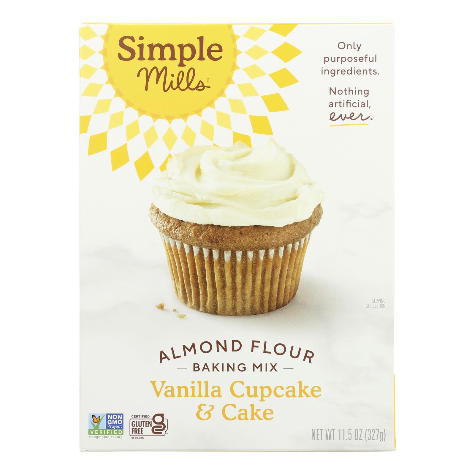 Simple Mills Almond Flour Vanilla Cake Mix - Case of 6 - 11.5 oz.