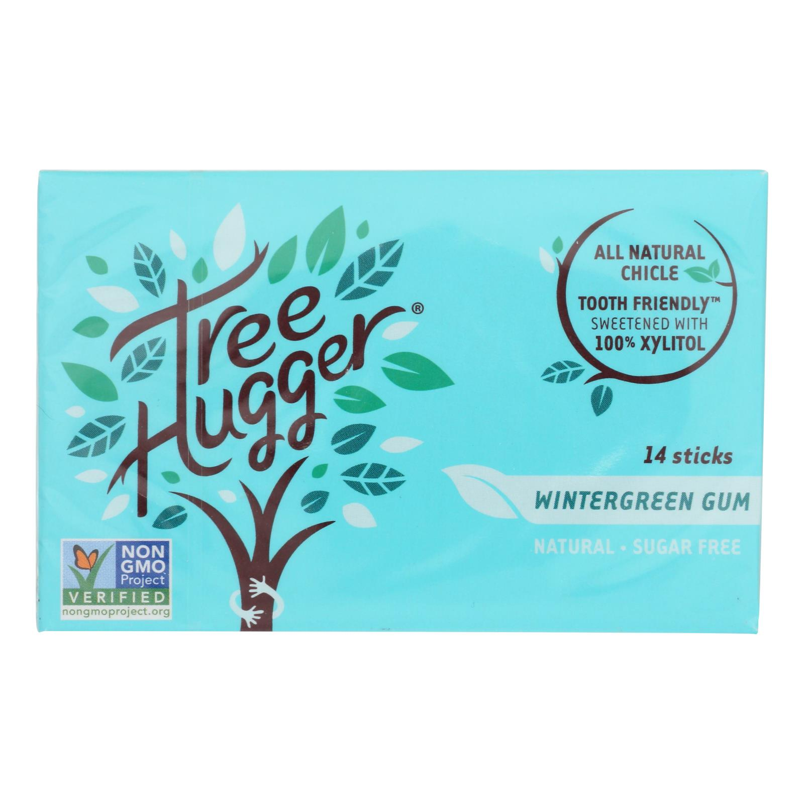 Tree Hugger - Gum Wintergreen Xylitol - Case of 12 - 14 CT