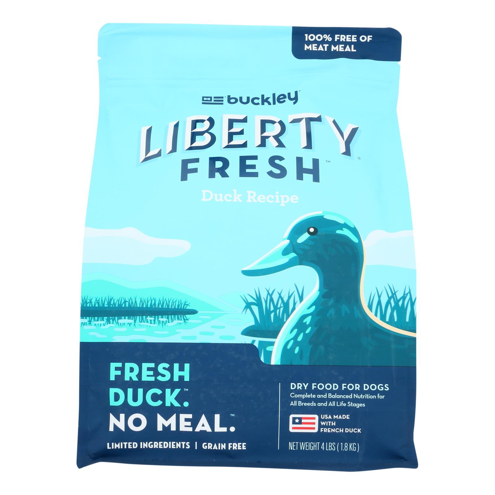 Buckley - Liberty Fresh Duck - Case of 6 - 4 LB