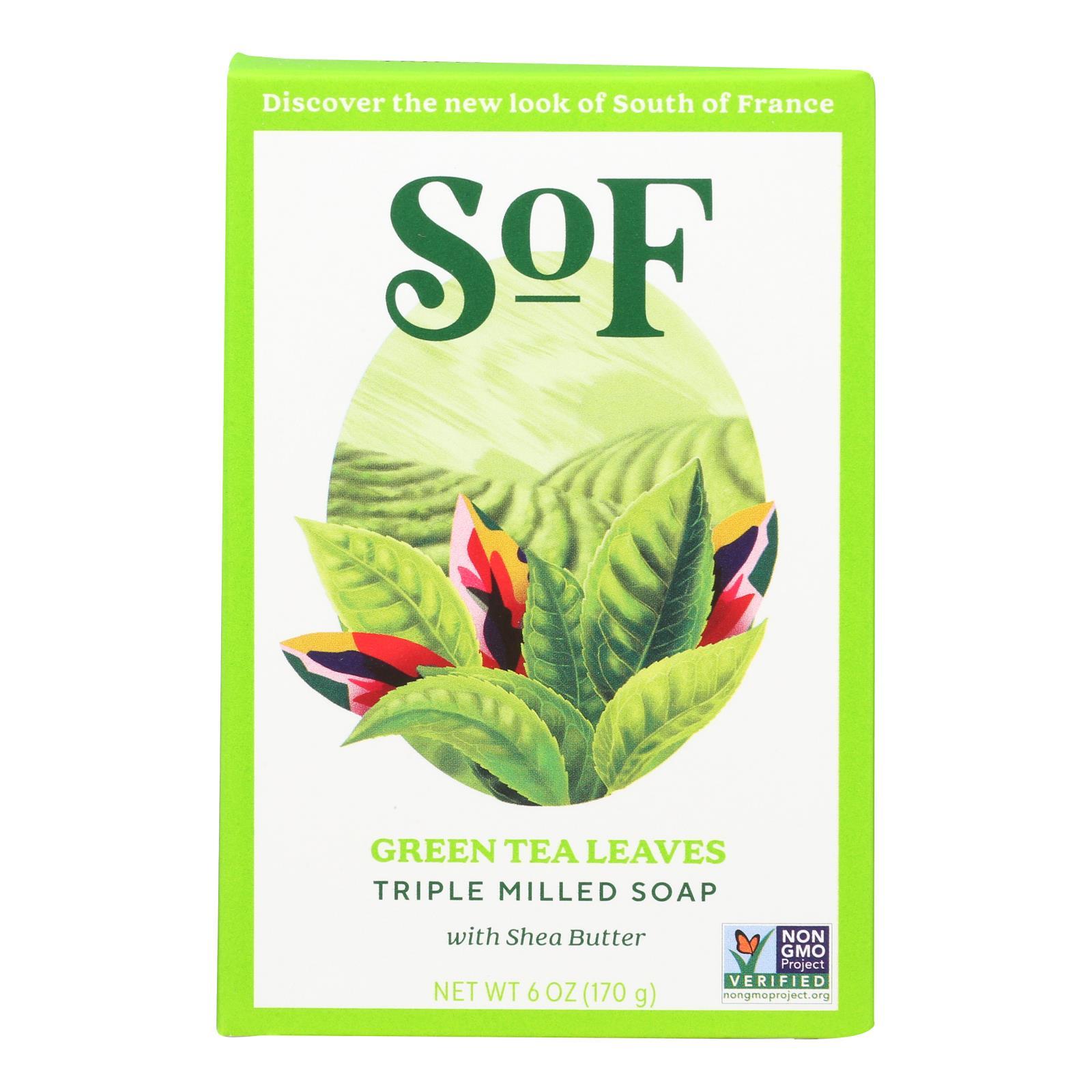 South Of France Bar Soap - Green Tea - 6 oz - 1 each