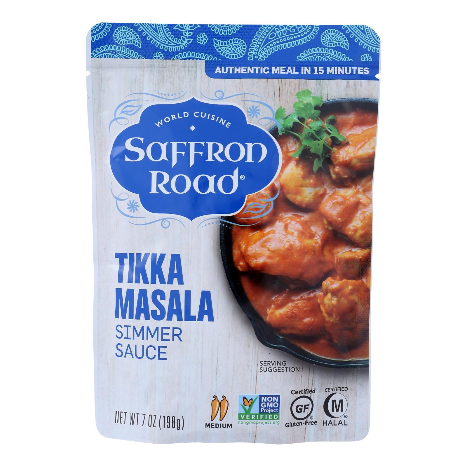 Saffron Road Simmer Sauce - Tikka Masala - Case of 8 - 7 Fl oz.