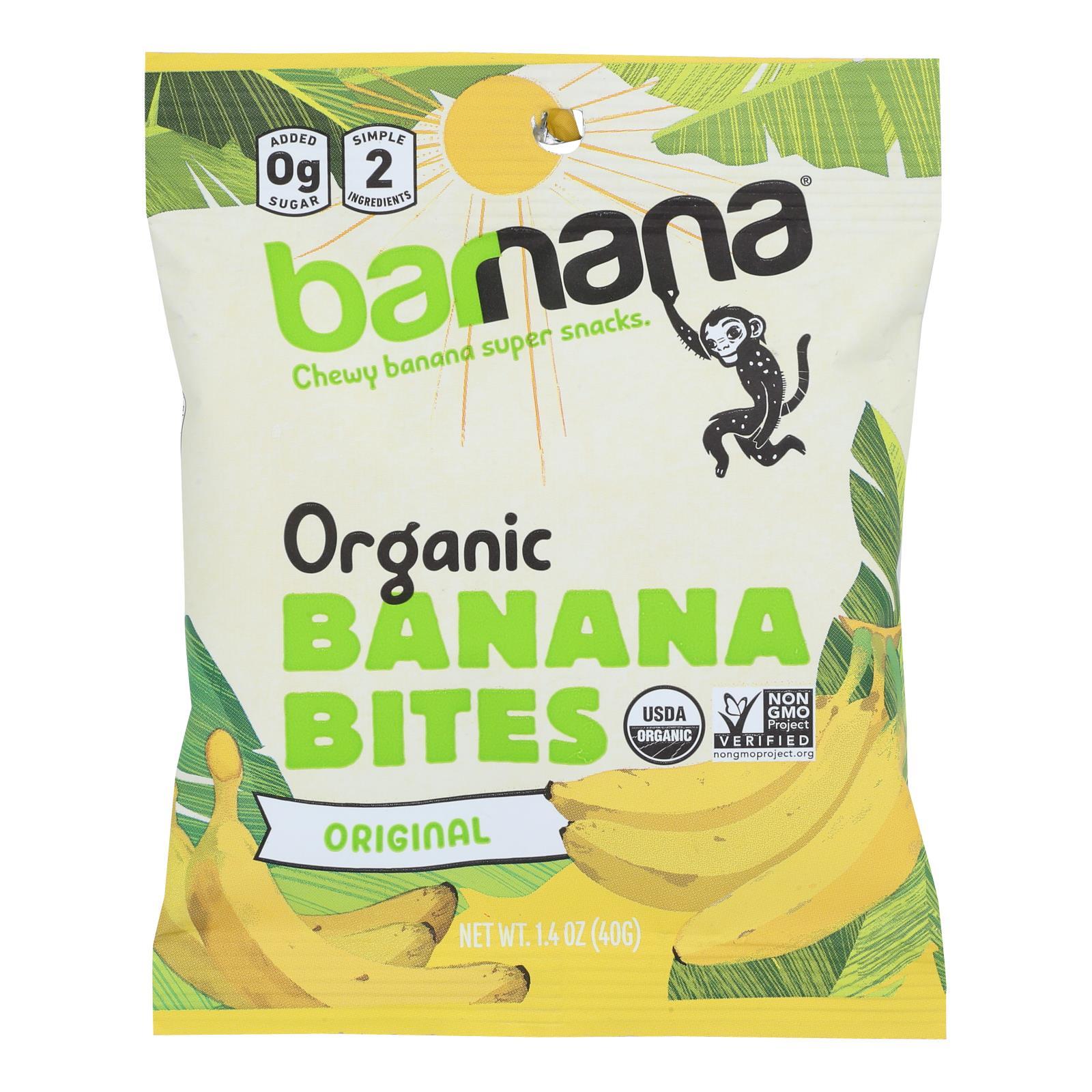 Barnana Organic Chewy Banana Bites - Original - Case of 12 - 1.4 oz