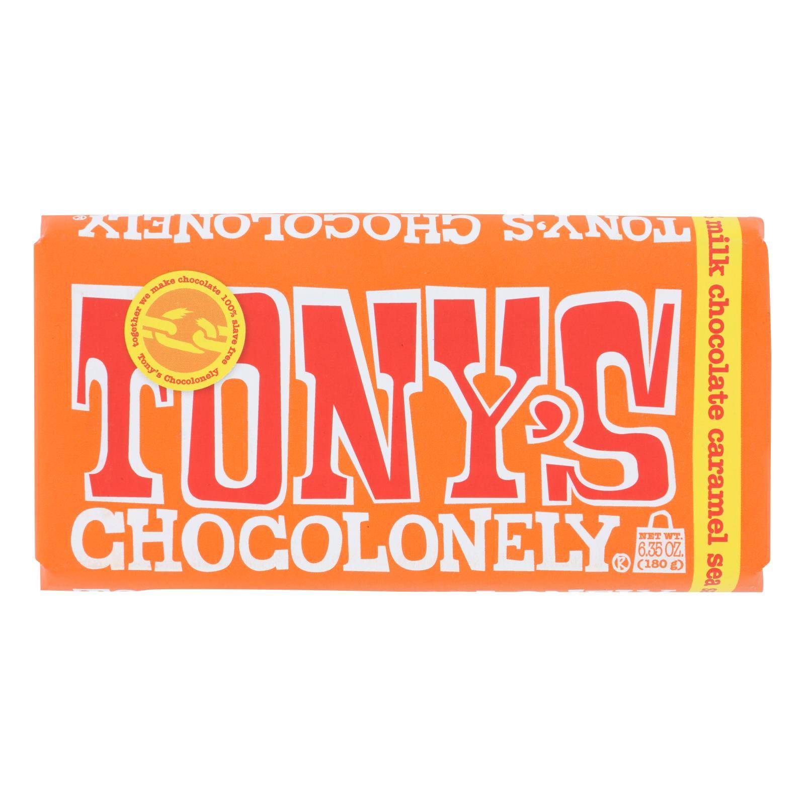 Tony's Chocolonely - Bar Chocolate Milk Caramel Ssl 32% - Case of 15 - 6.35 OZ