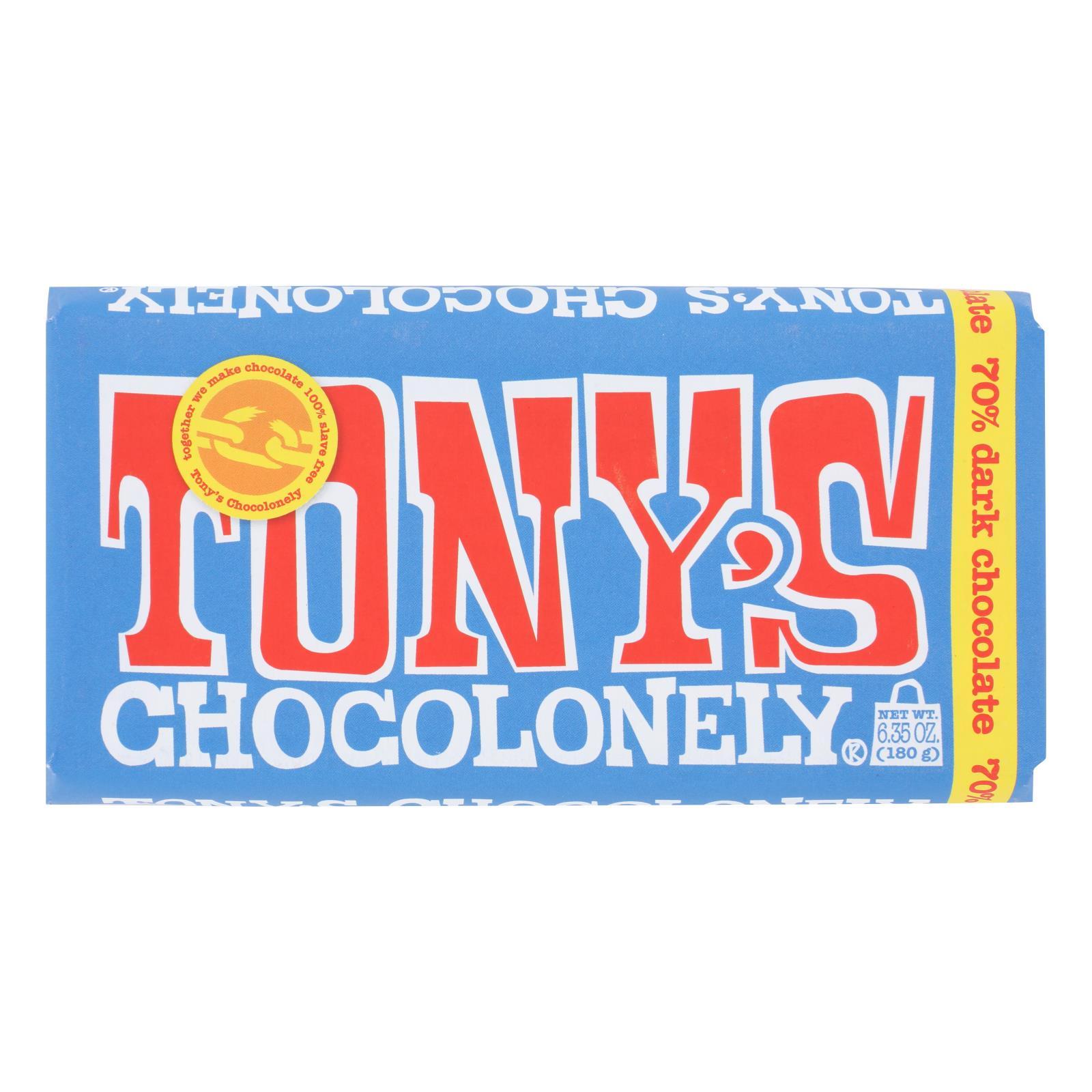 Tony's Chocolonely - Bar Chocolate Xtra Dark 70% - Case of 15 - 6.35 OZ