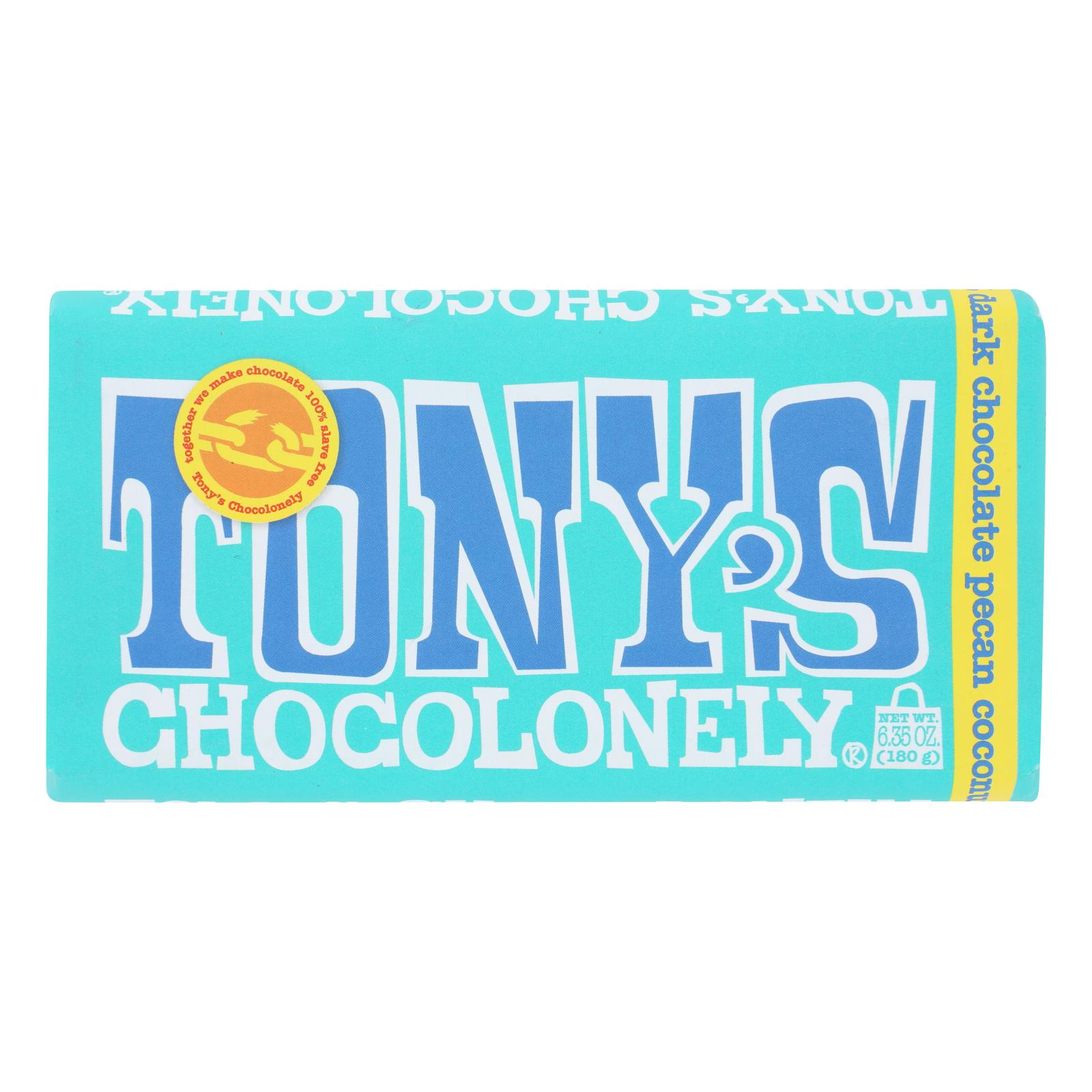 Tony's Chocolonely - Bar Chocolate Dk Pcn Coconut 51% - Case of 15 - 6.35 OZ