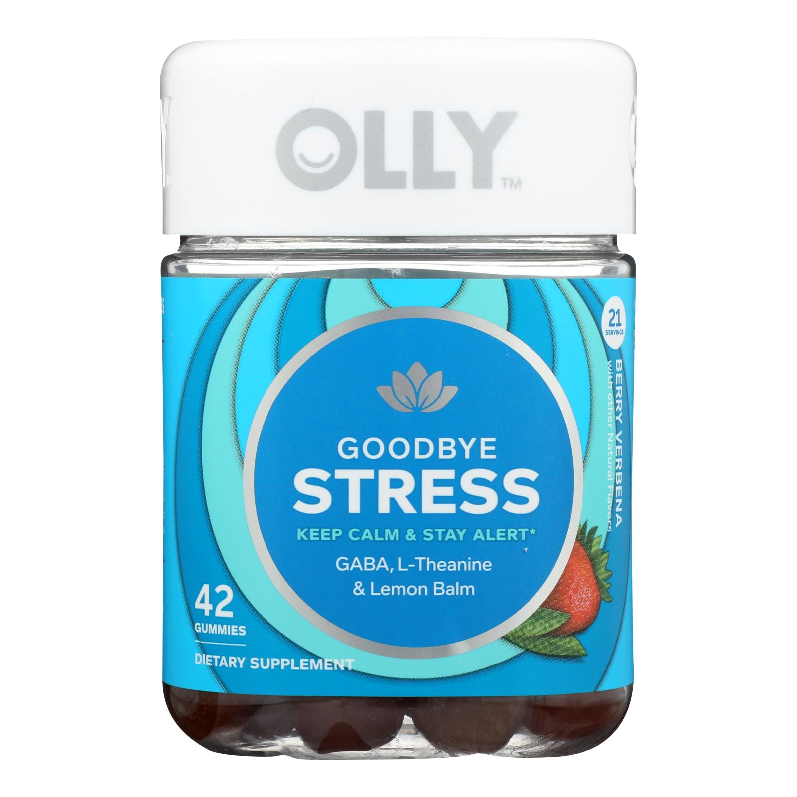 Olly - Supp Goodbye Stress Berry - 1 Each - 42 CT