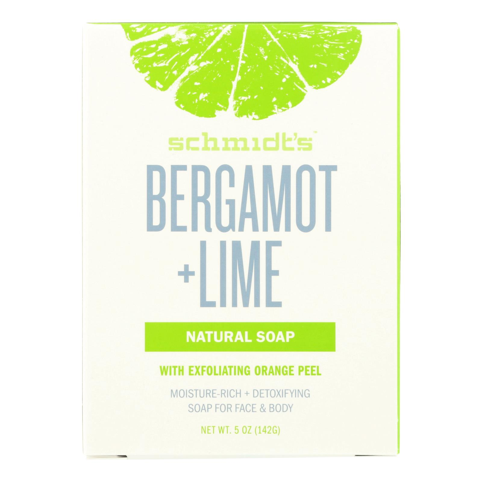 Schmidts - Bar Soap Bergamont & Lime - 1 Each -5 OZ