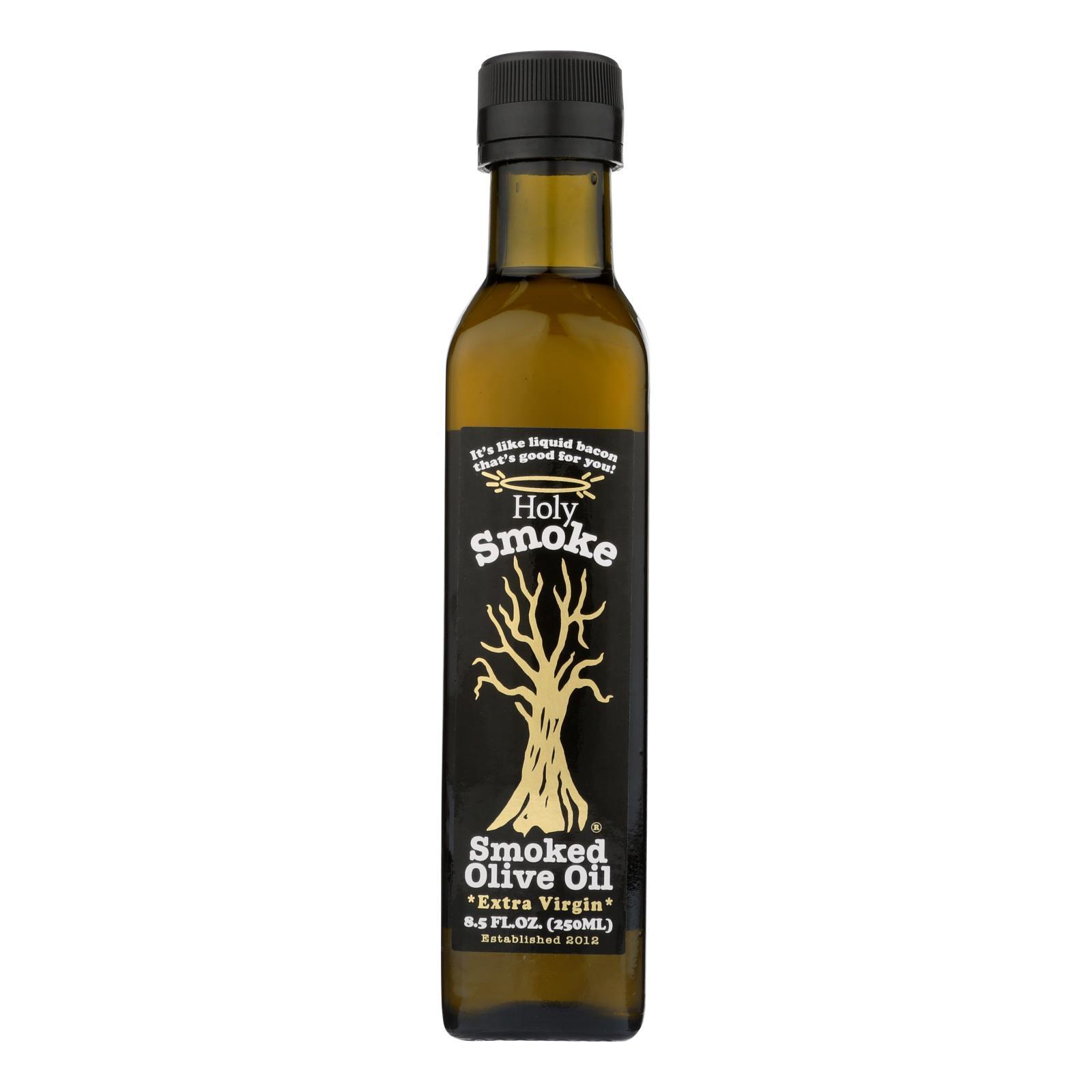 Holy Smoke - Oil Olive Ev Smoked - Case of 6 - 8.5 FZ