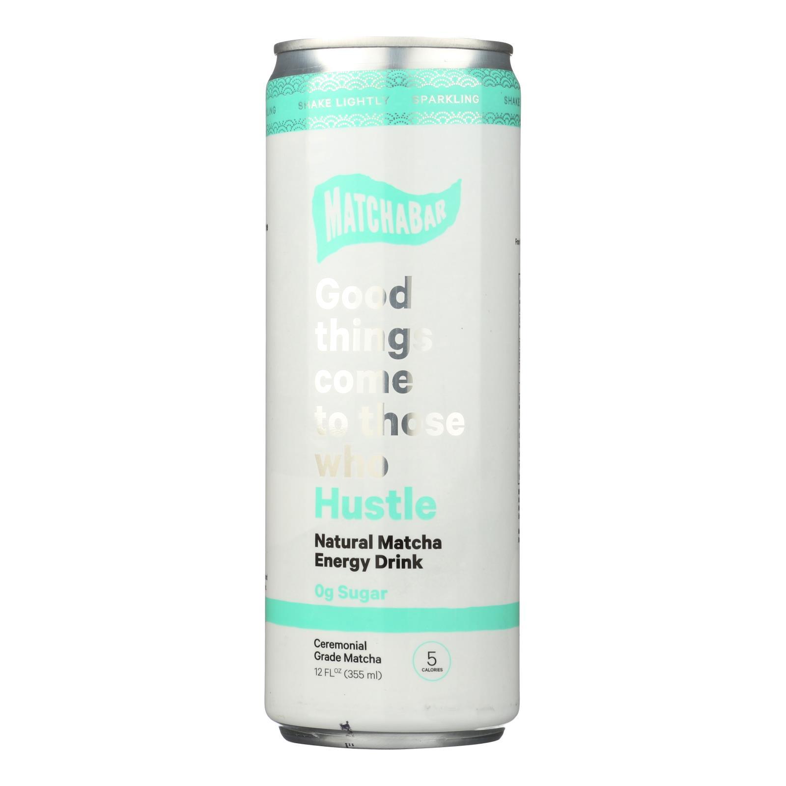 Matchabar - Energy Drink Matcha Hus 0 - Case of 12 - 12 OZ