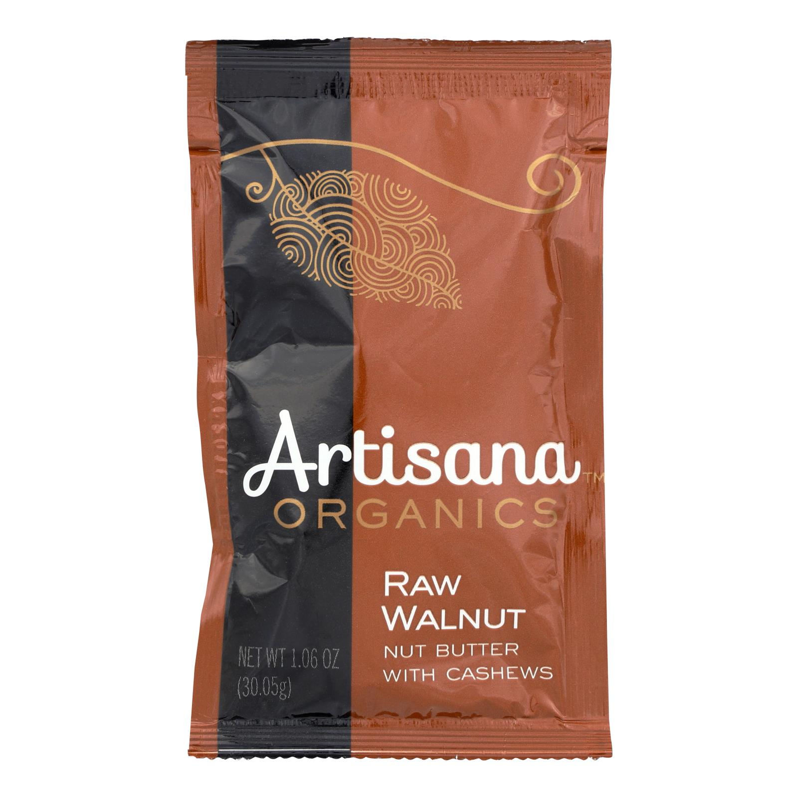 Artisana Organic Raw Walnut Butter - Squeeze Packs - 1.06 oz - Case of 10