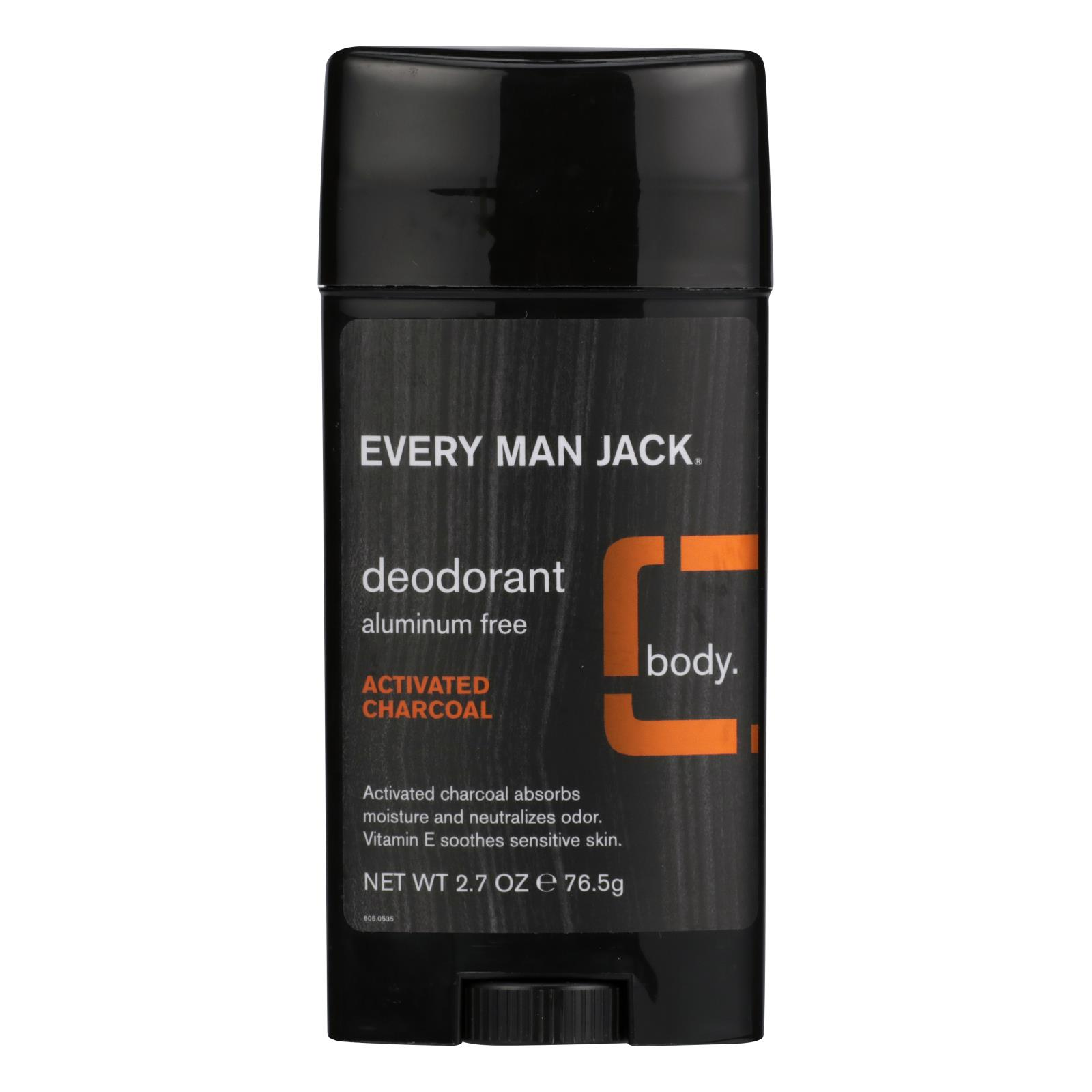 Every Man Jack - Deodorant Activated Charcoal - 1 Each - 2.7 OZ