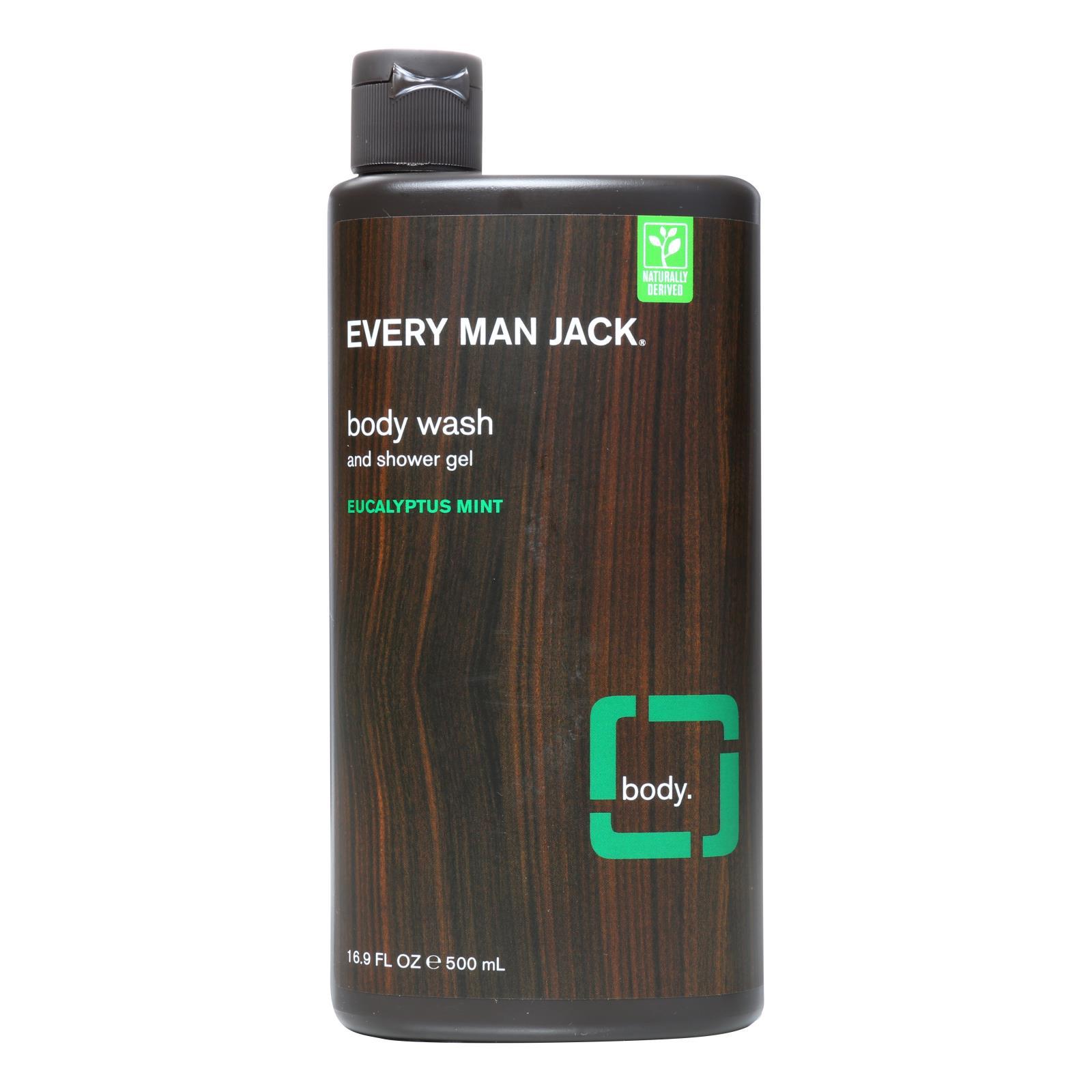 Every Man Jack Eucalyptus Mint Body Wash And Shower Gel  - 1 Each - 16.9 OZ