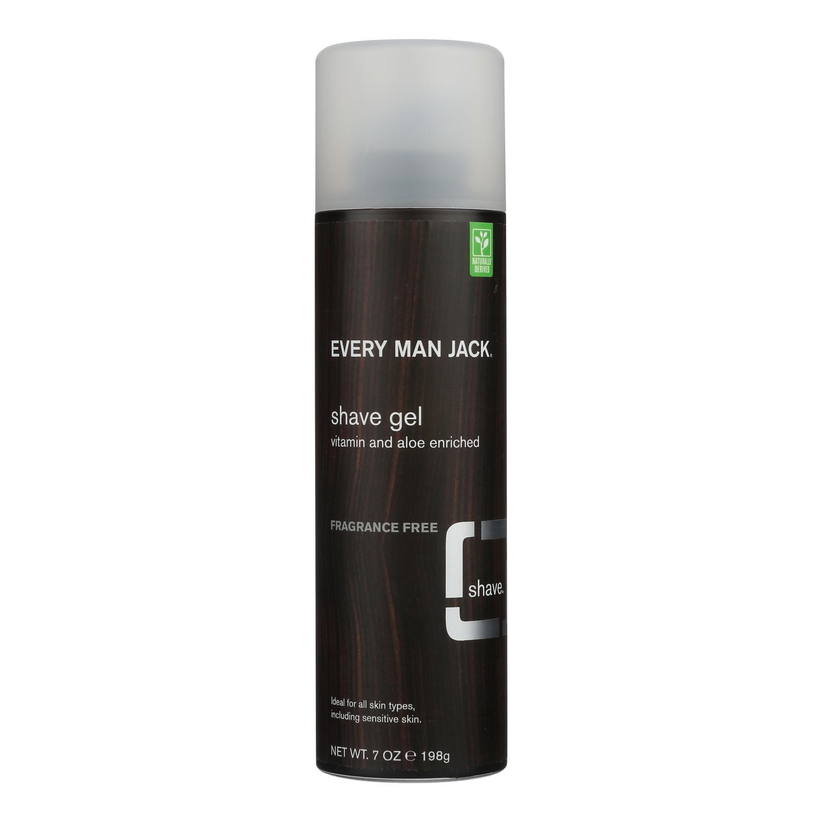 Every Man Jack Shave Gel - Sensitive Skin - Fragrance Free - 7 oz