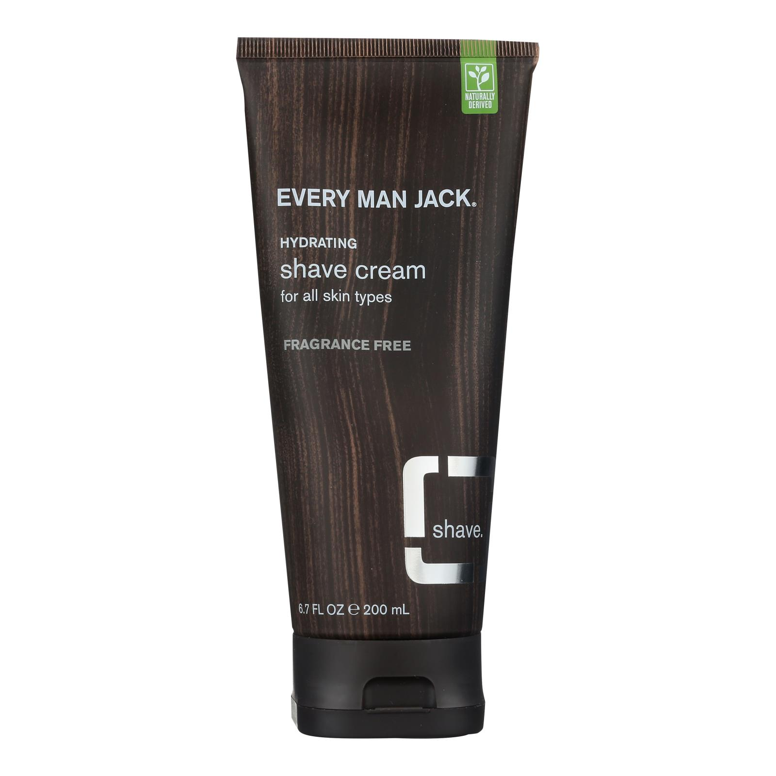Every Man Jack Shave Cream - Sensitive Skin - Fragrance Free - 6.7 oz