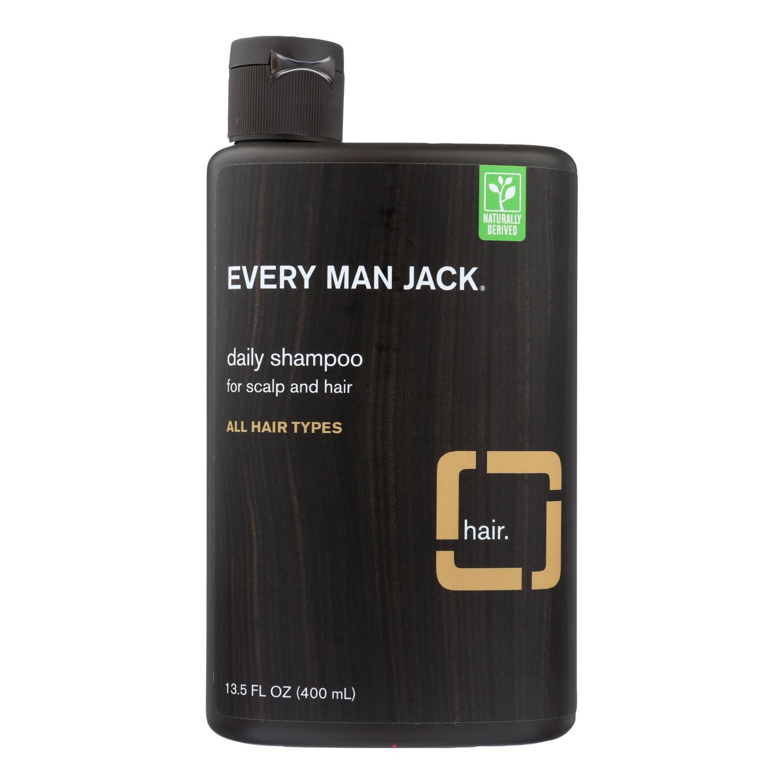 Every Man Jack Daily Shampoo - Scalp and Hair - All Hair Types - Sandalwood - 13.5 oz