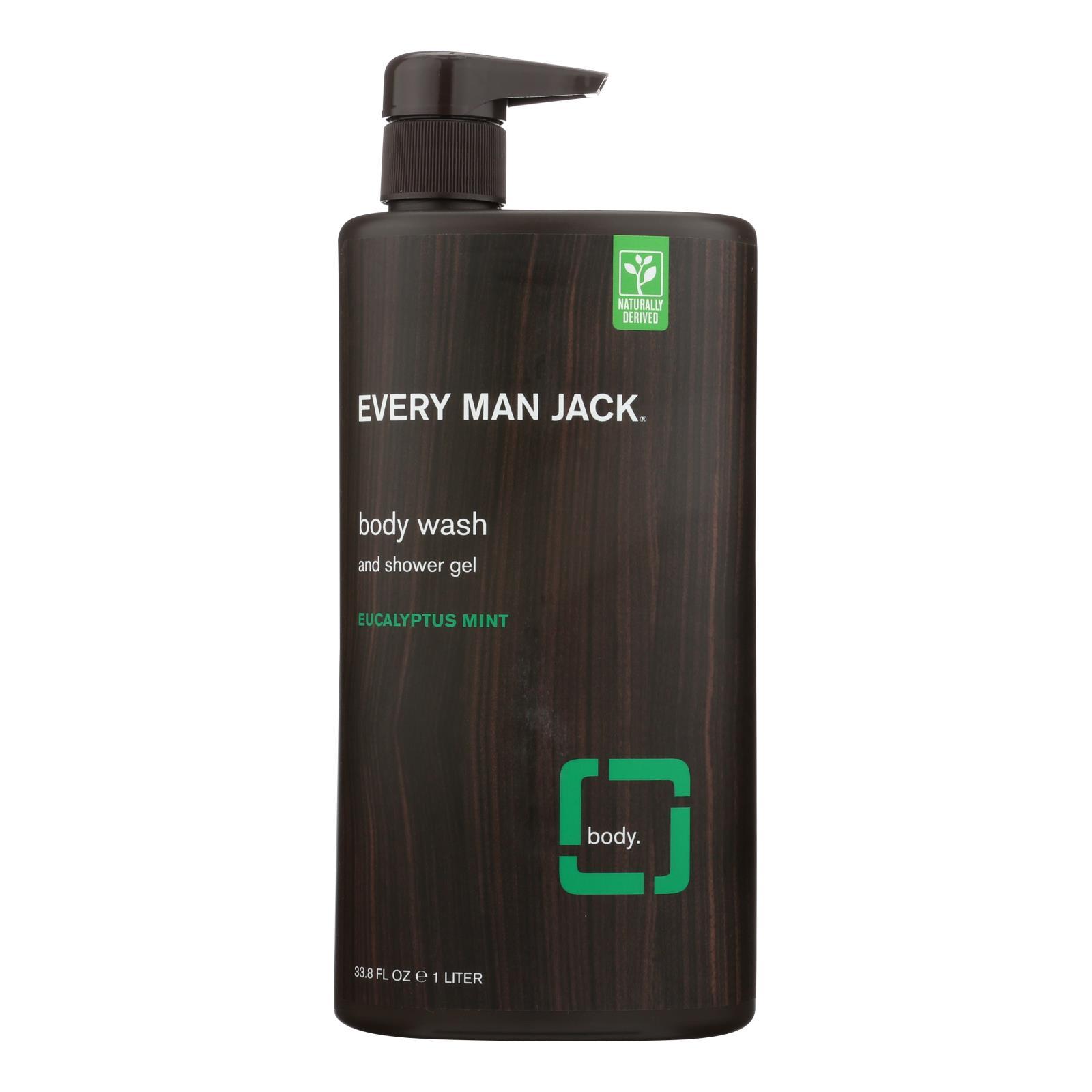 Every Man Jack Body Wash Eucalyptus Mint Body Wash - Case of 33.8 - 33.8 fl oz.