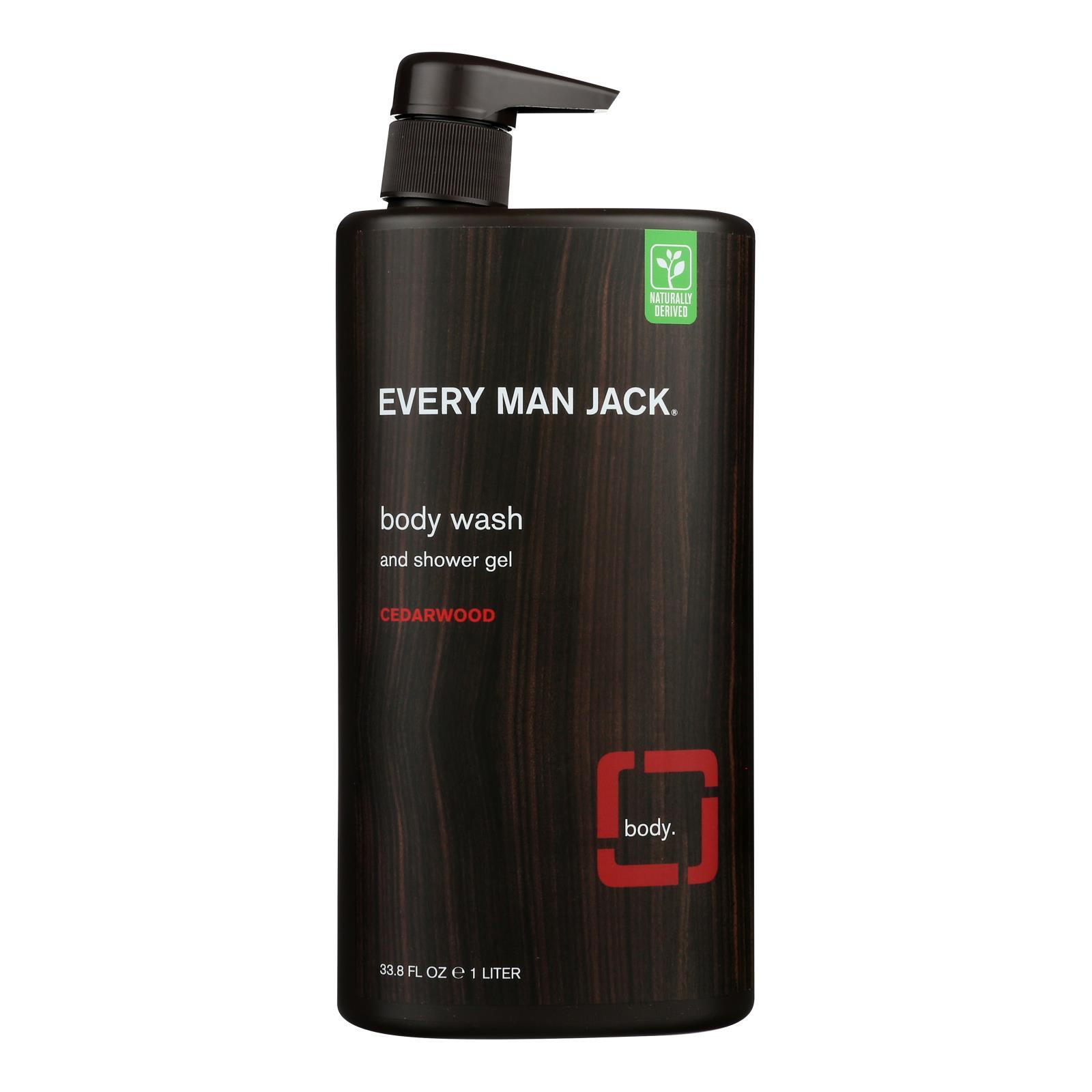 Every Man Jack Body Wash Cedarwood Body Wash - Case of 33.8 - 33.8 fl oz.