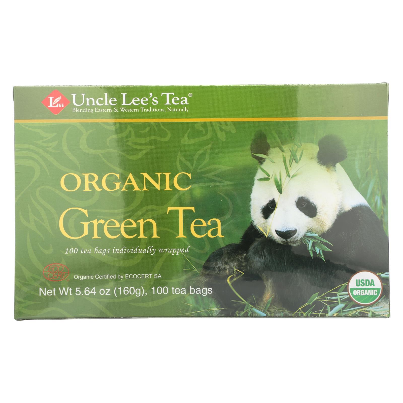 Uncle Lee's Legends of China Organic Green Tea - 100 Tea Bags