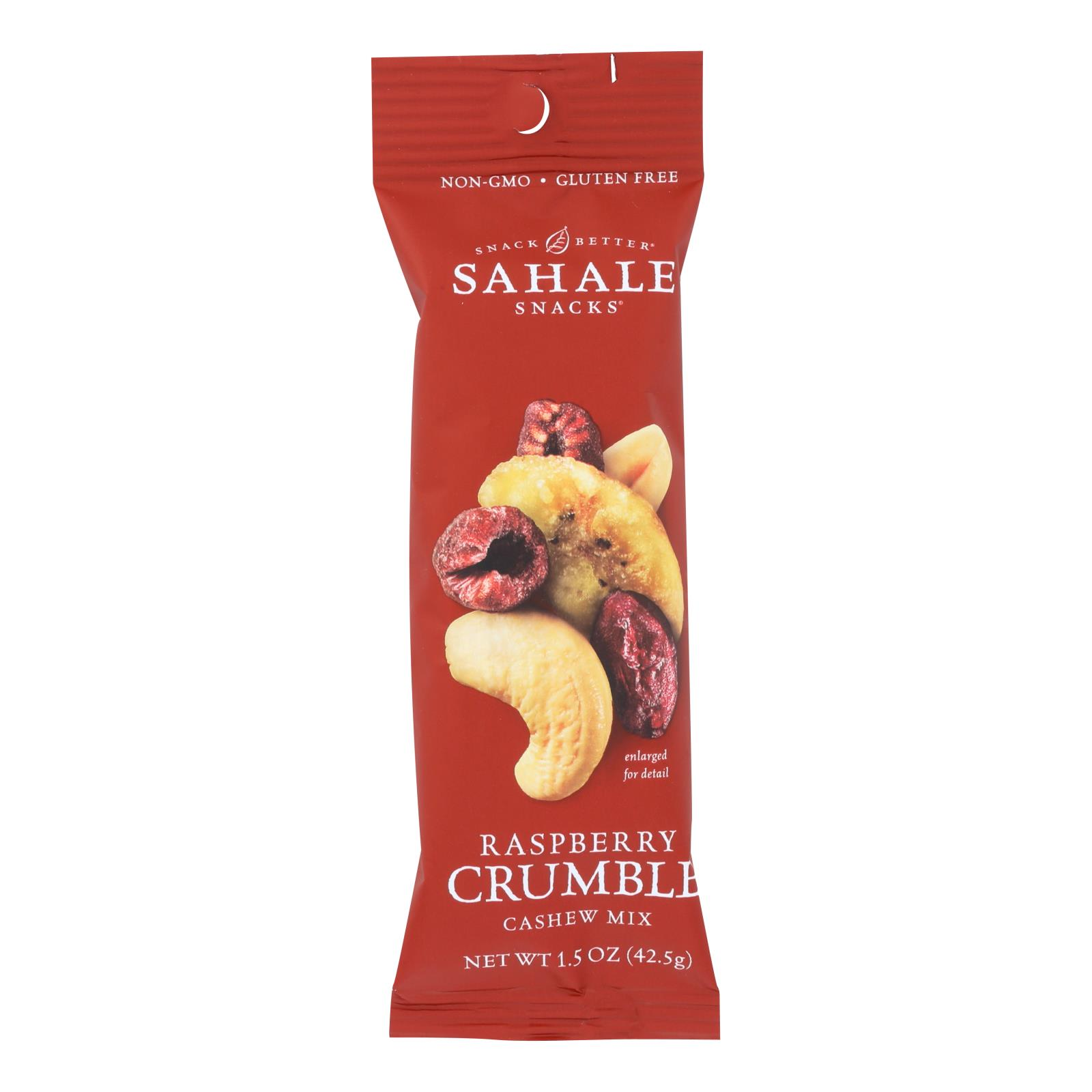 Sahale Raspberry Crumble Cashew Snack Mix  - Case of 9 - 1.5 OZ