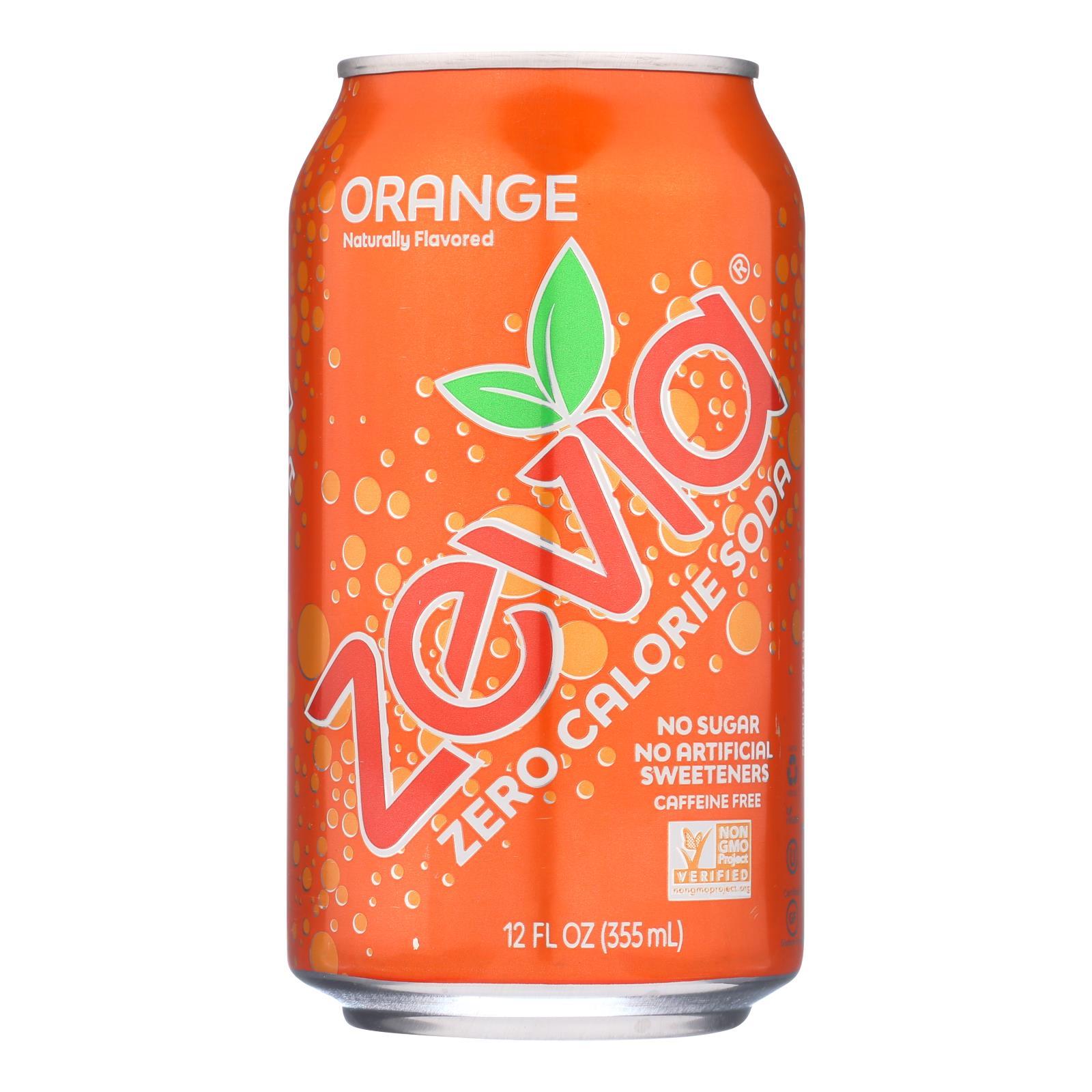 Zevia Soda - Zero Calorie - Orange - Can - 6/12 oz - case of 4