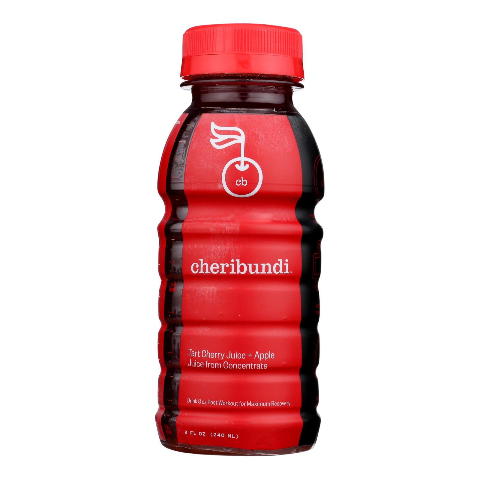 Cheribundi Tart Cherry Juice With Reconstituted Apple Juice  - Case of 12 - 8 FZ