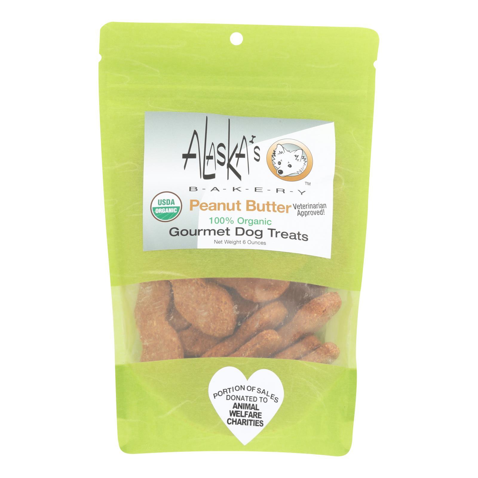 Alaska's Bakery - Dog Treats - Peanut Butter - Case of 6 - 6 oz.
