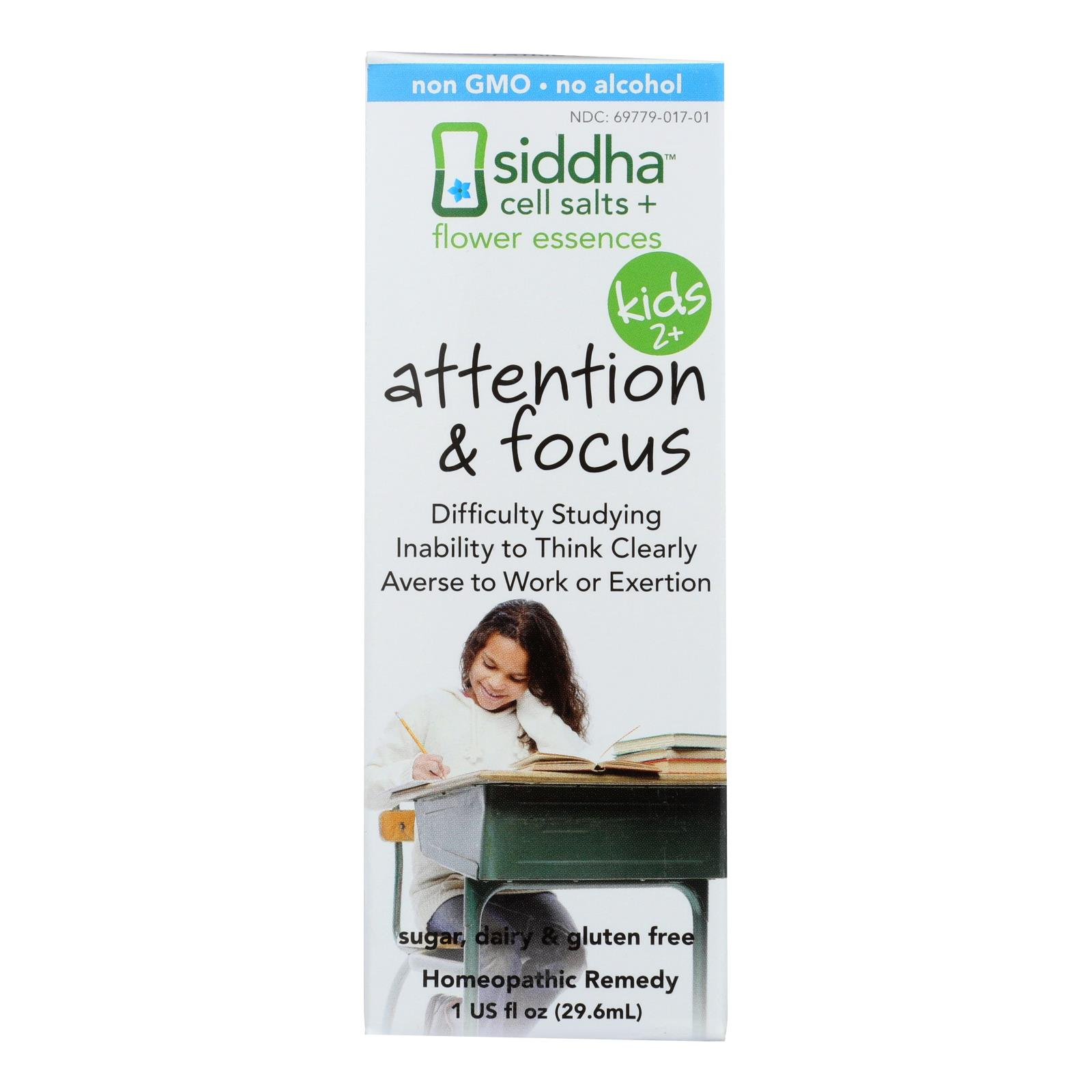 Siddha Flower Essences Attention and Focus - Kids - Age Two Plus - 1 fl oz