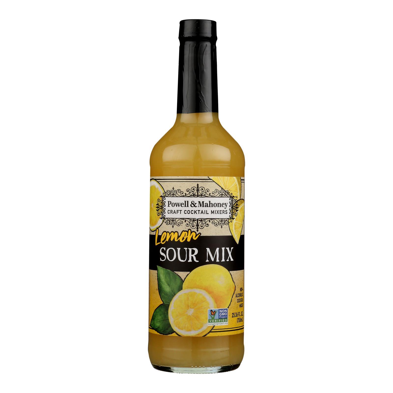 Powell and Mahoney Cocktail Mixer - Lemon Sour - Case of 6 - 25.36 fl oz