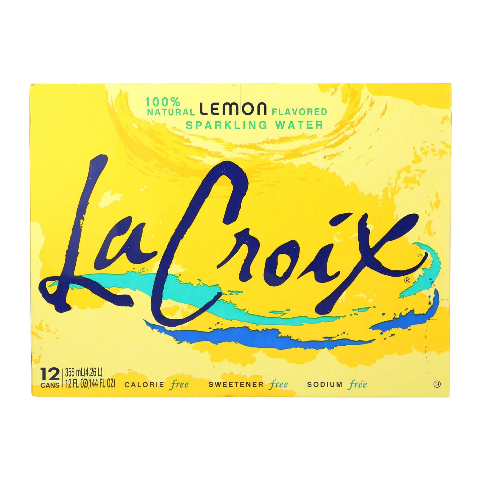 Lacroix Sparkling Water - Lemon - Case of 2 - 12 Fl oz.