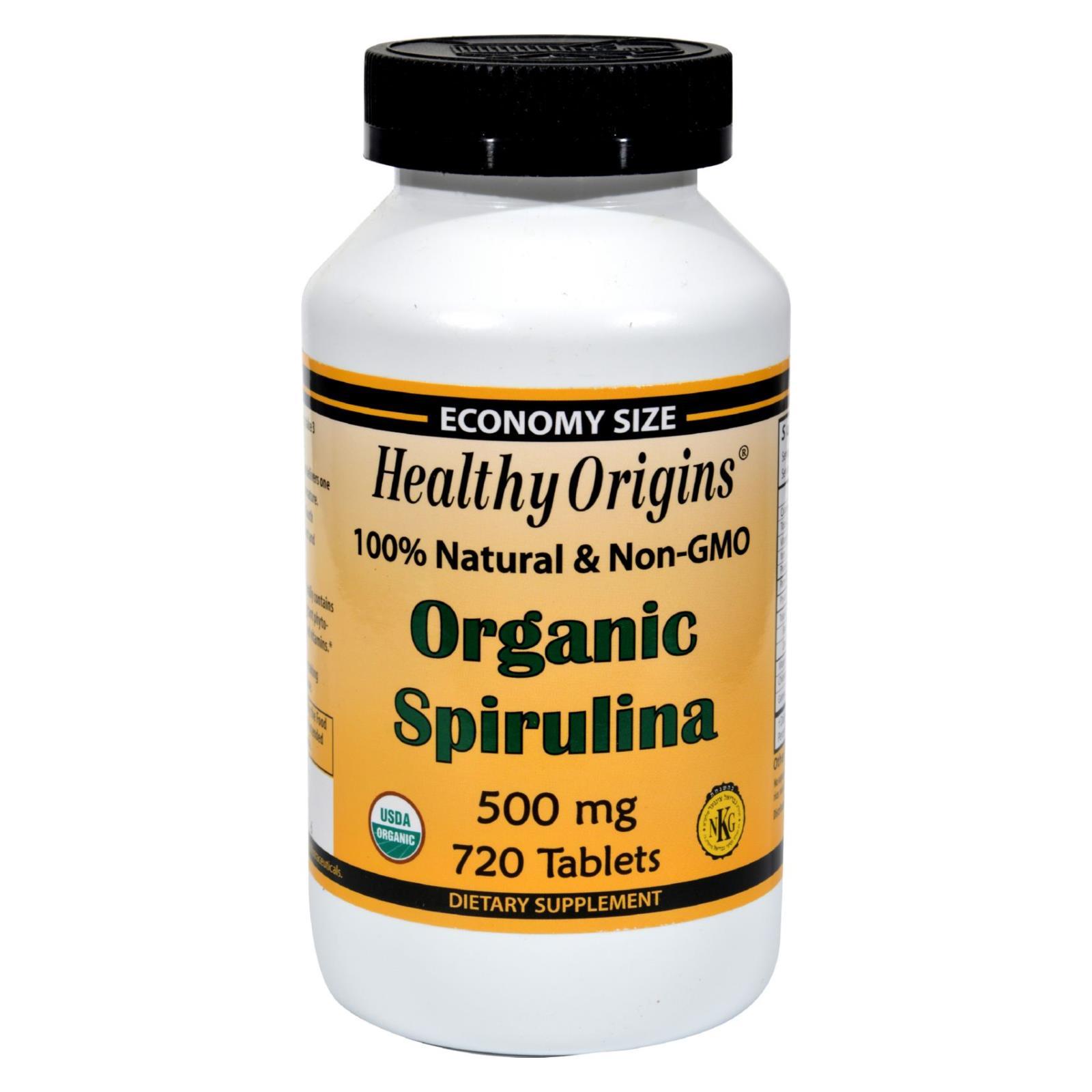 Healthy Origins Organic Spirulina - 500 mg - 720 Ct