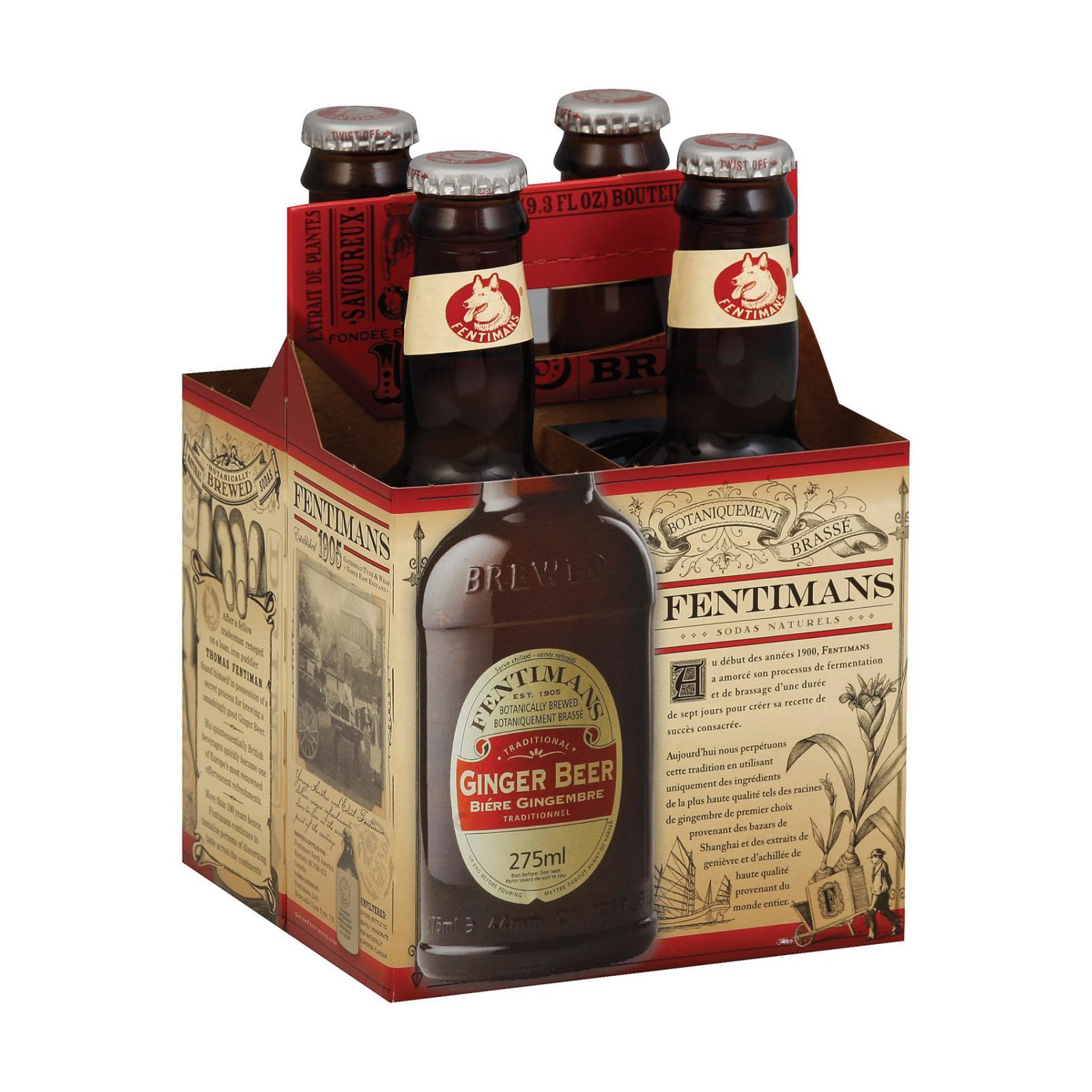Fentimans North America Ginger Beer - Beer - Case of 6 - 9.3 FL oz.