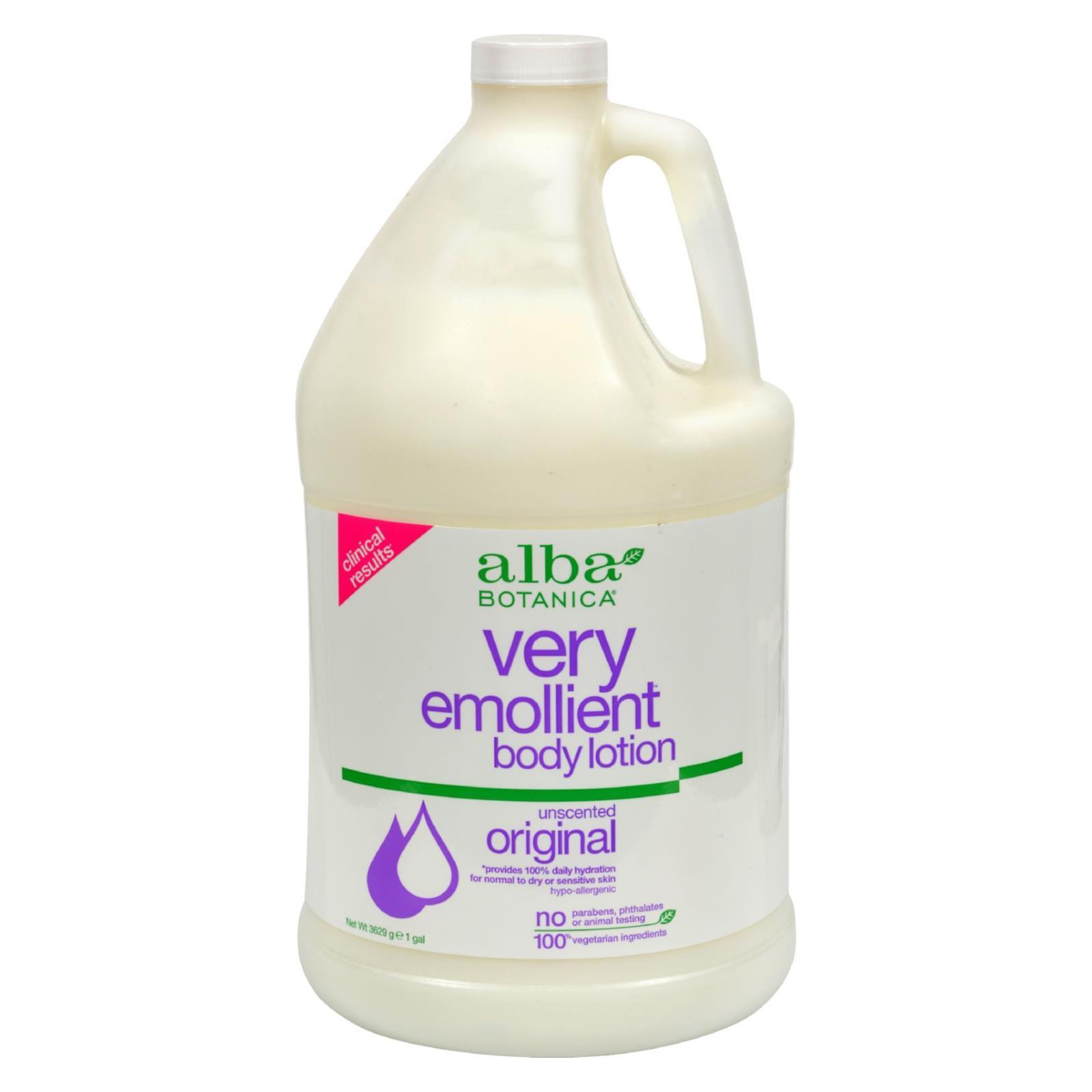 Alba Botanica - Very Emollient Body Lotion - Original Unscented - 1 Gallon
