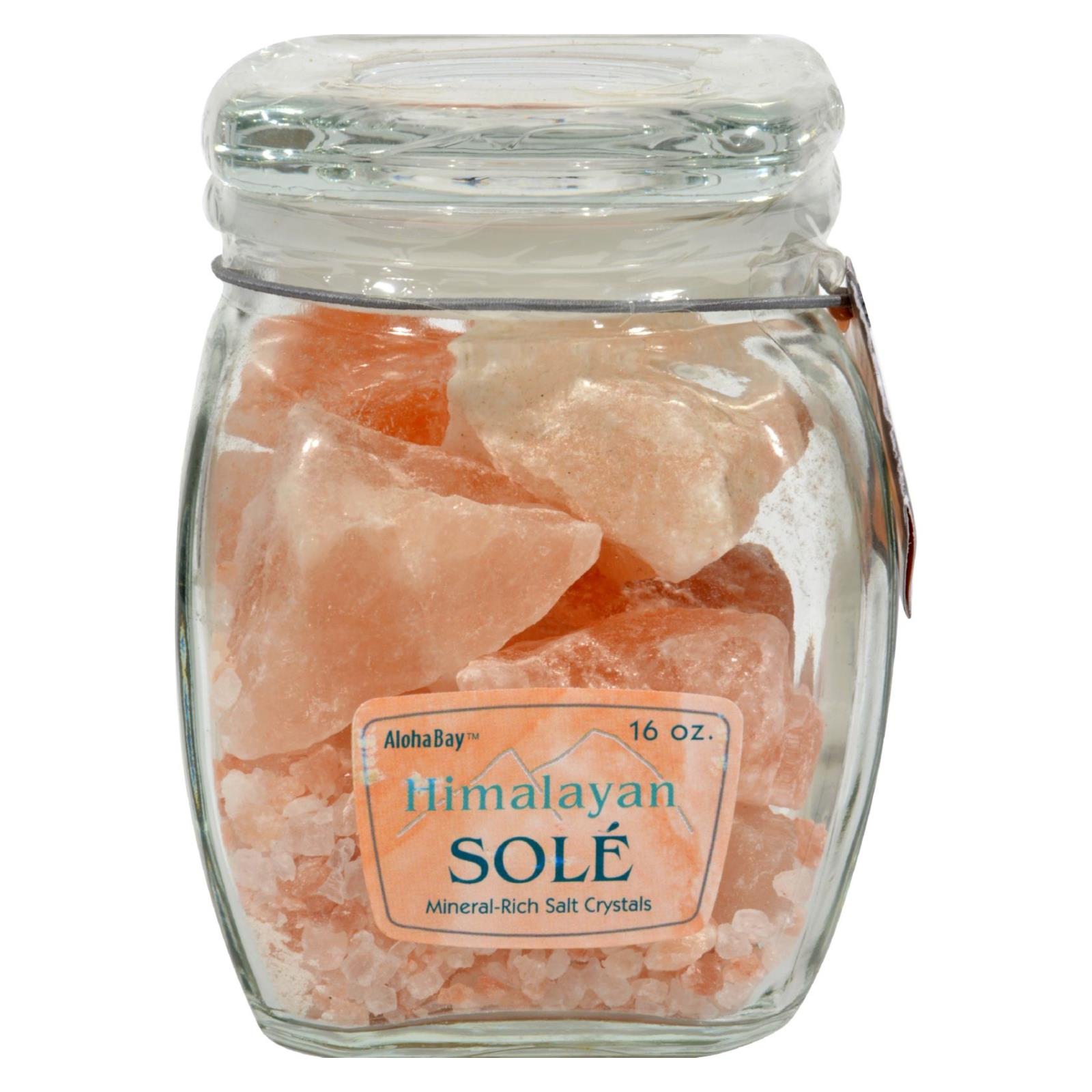 Himalayan Salt Sole Salt Chunks in Jar - 16 oz