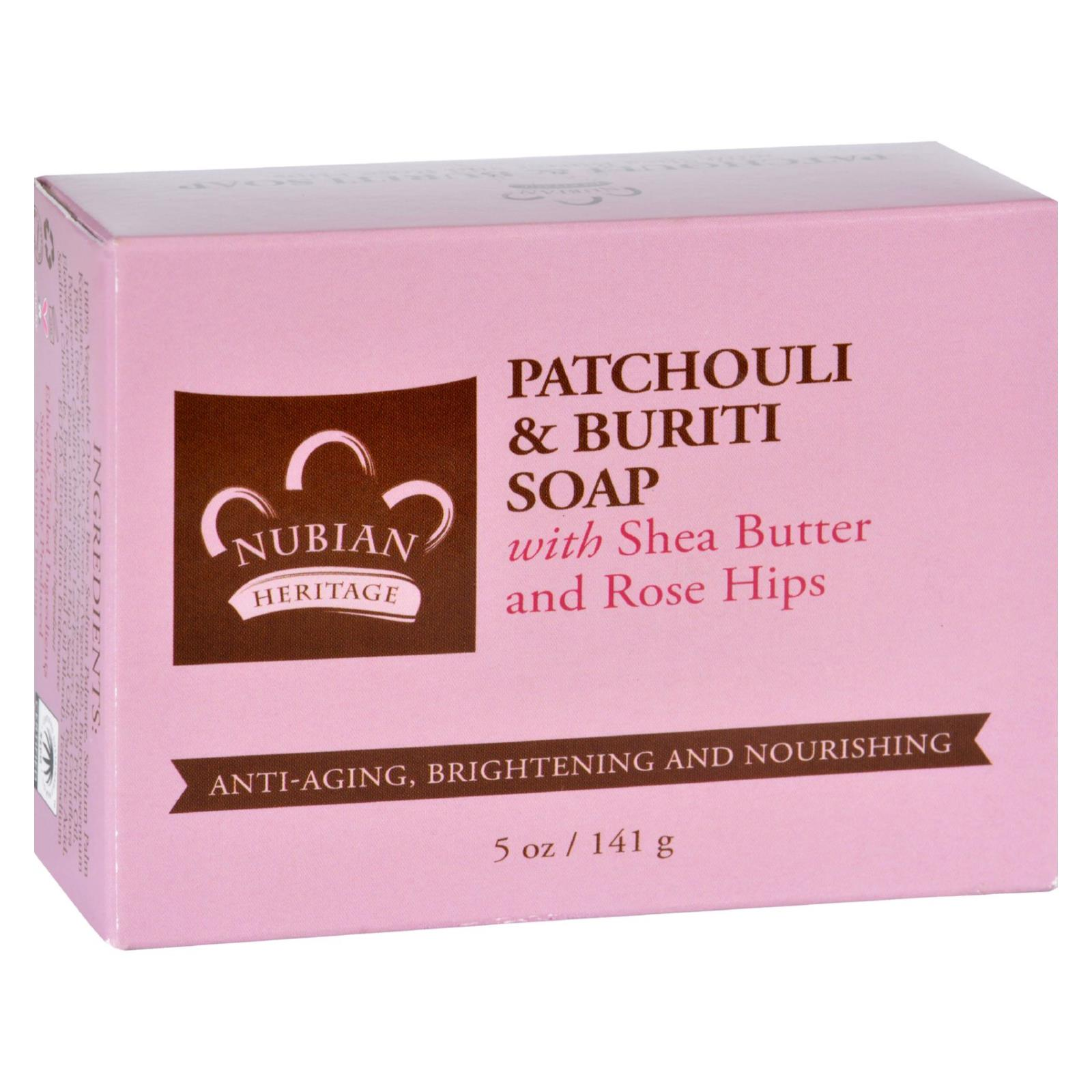 Nubian Heritage Bar Soap - Patchouli and Buriti - 5 oz