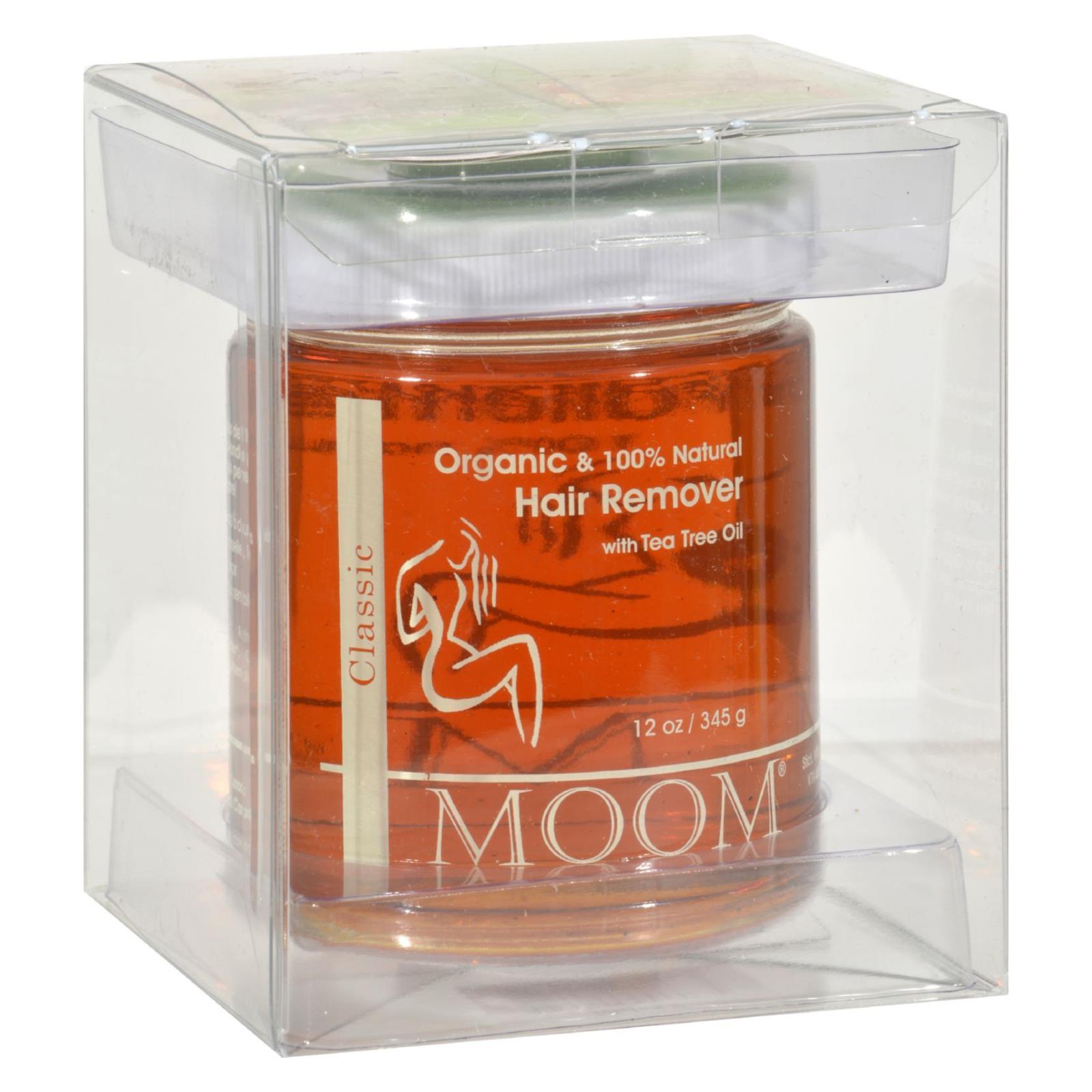 Moom Organic Hair Removal With Tea Tree Refill Jar - 12 oz