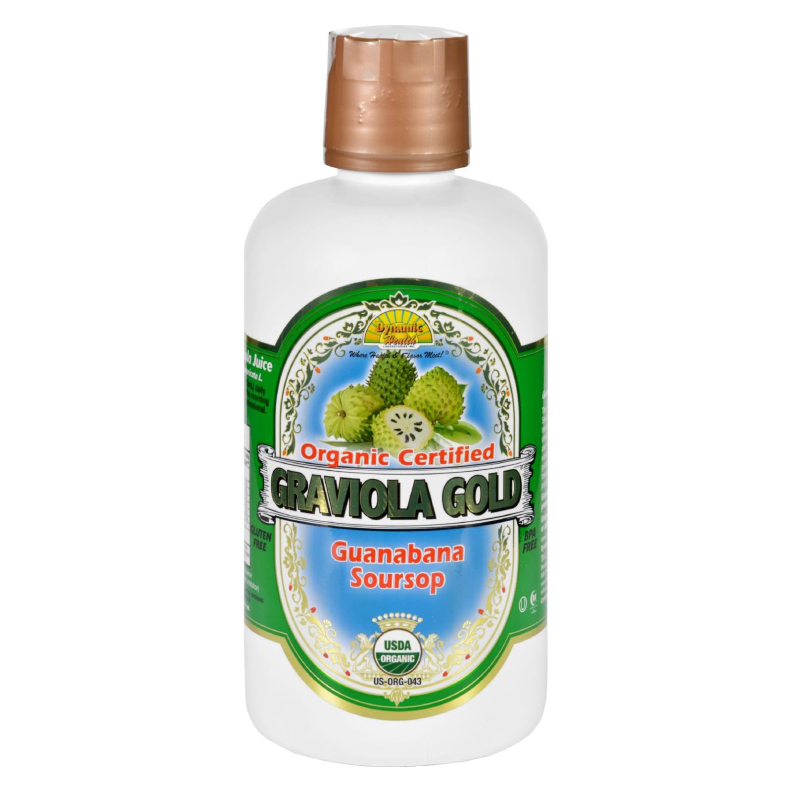 Dynamic Health Juice - Graviola Gold - Organic Certified - 32 oz
