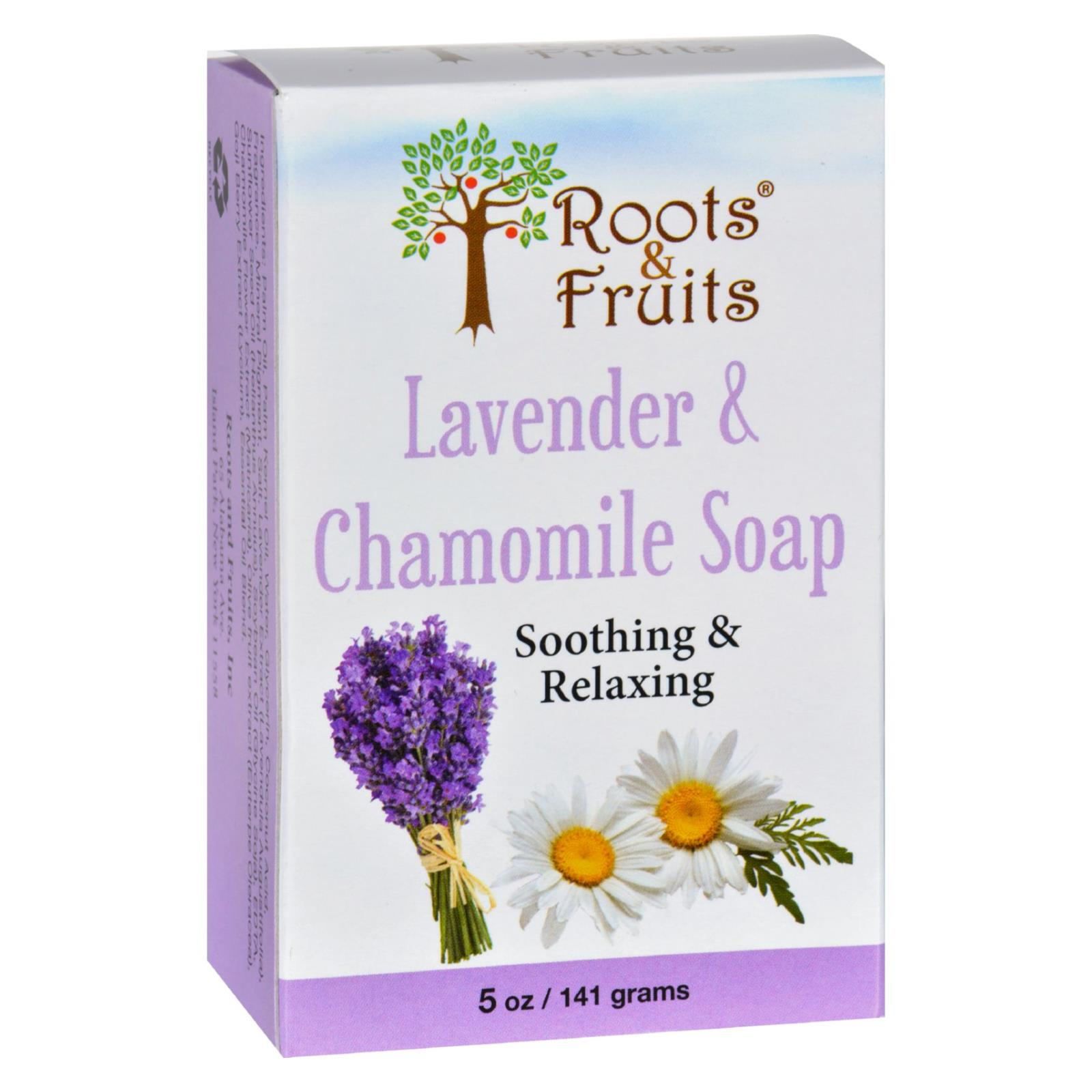 Roots and Fruits Bar Soap - Lavender and Chamomile - 5 oz